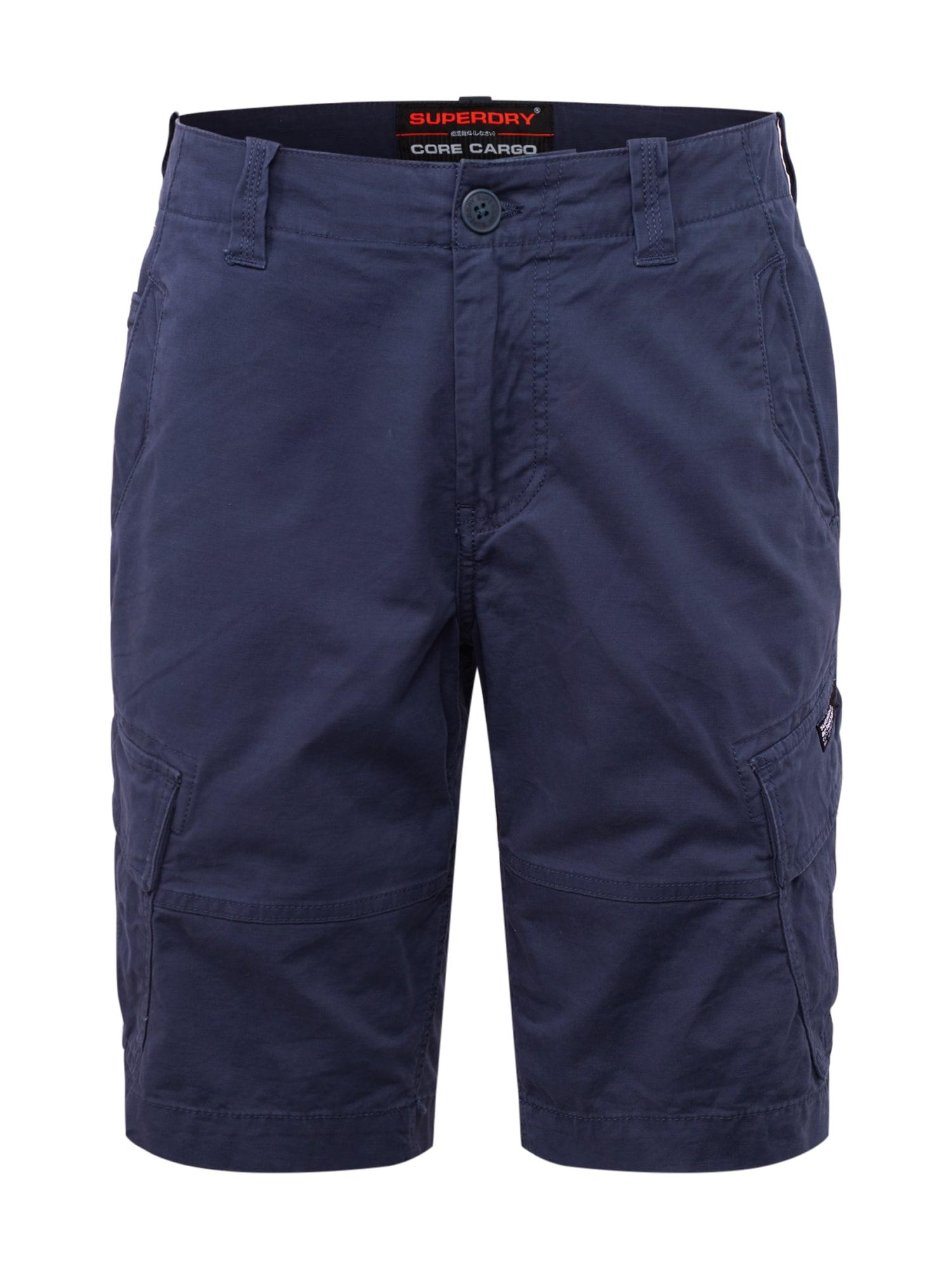 Superdry Laisvo stiliaus kelnės tamsiai mėlyna