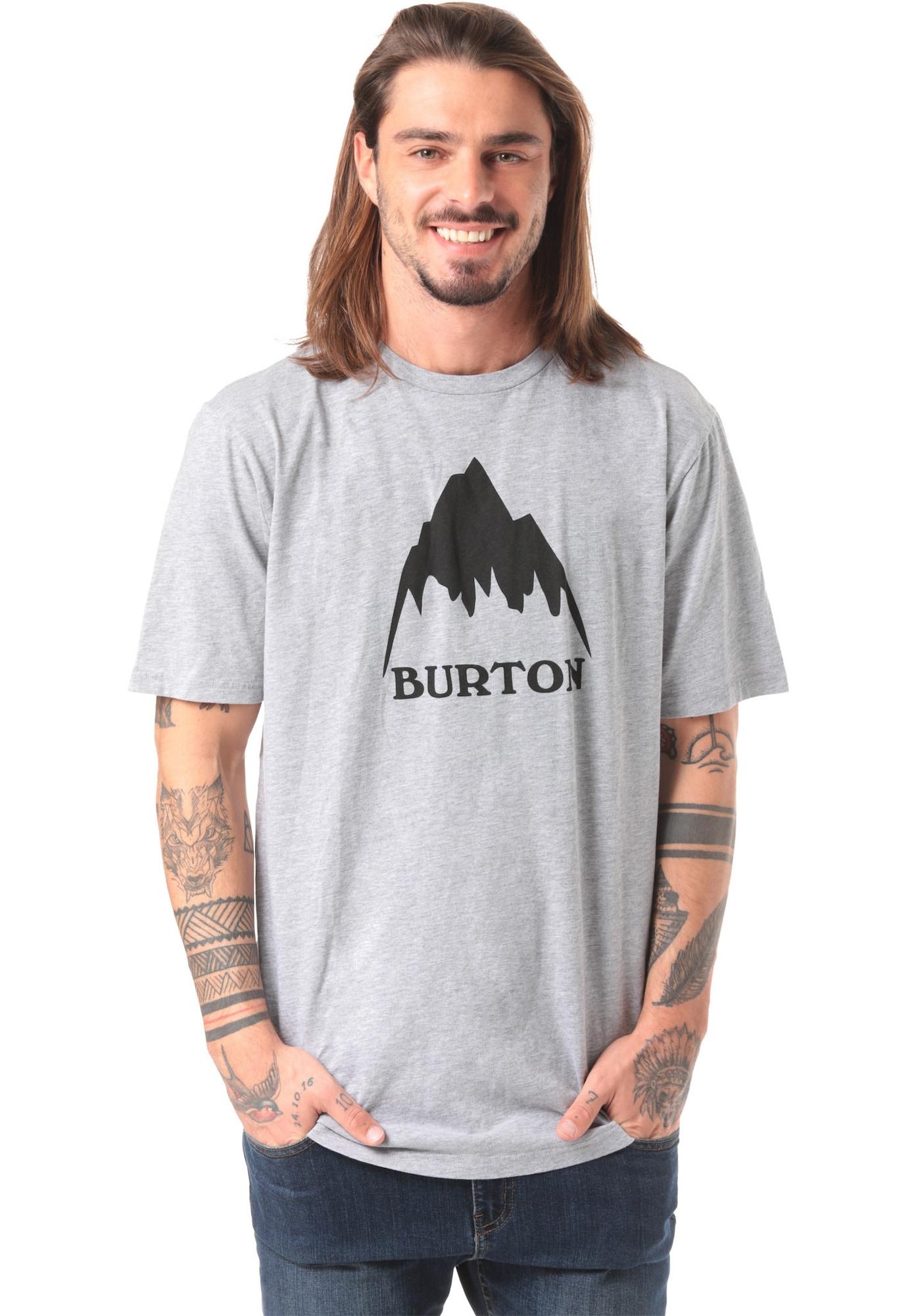 BURTON Funkční tričko 'Classic Mountain'  šedý melír / antracitová
