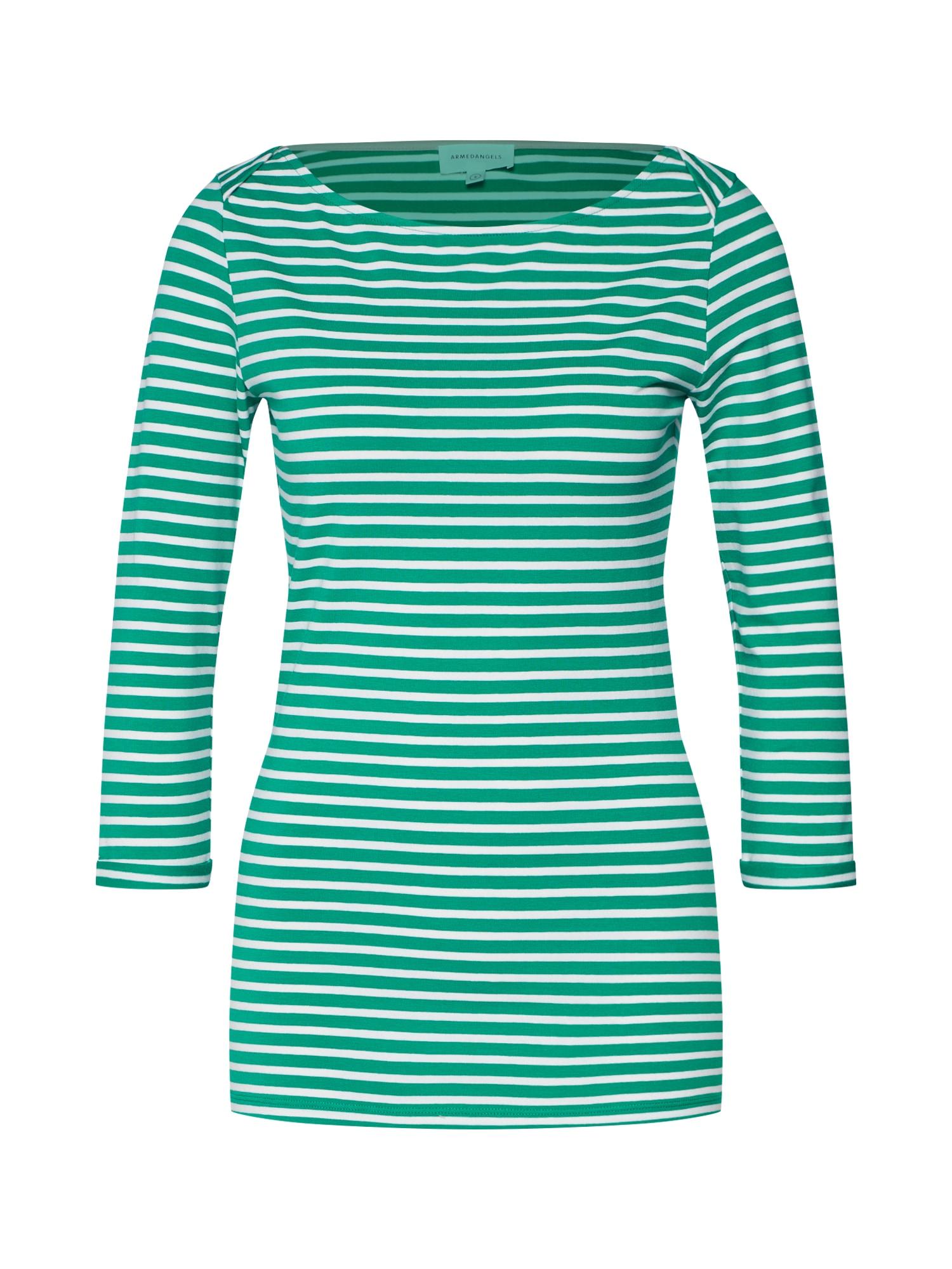 Tričko DALENAA STRIPES zelená bílá ARMEDANGELS