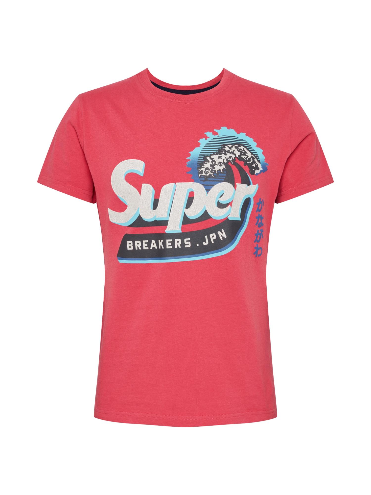 Superdry Tričko  modrá / červená / bílá