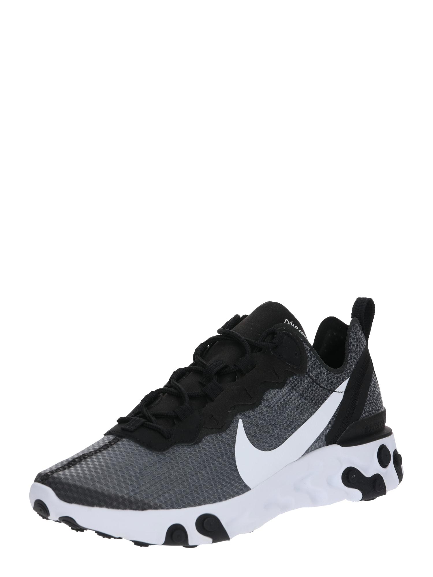 Nike Sportswear Sportbačiai be auliuko 'NIKE REACT ELEMENT' juoda / balta