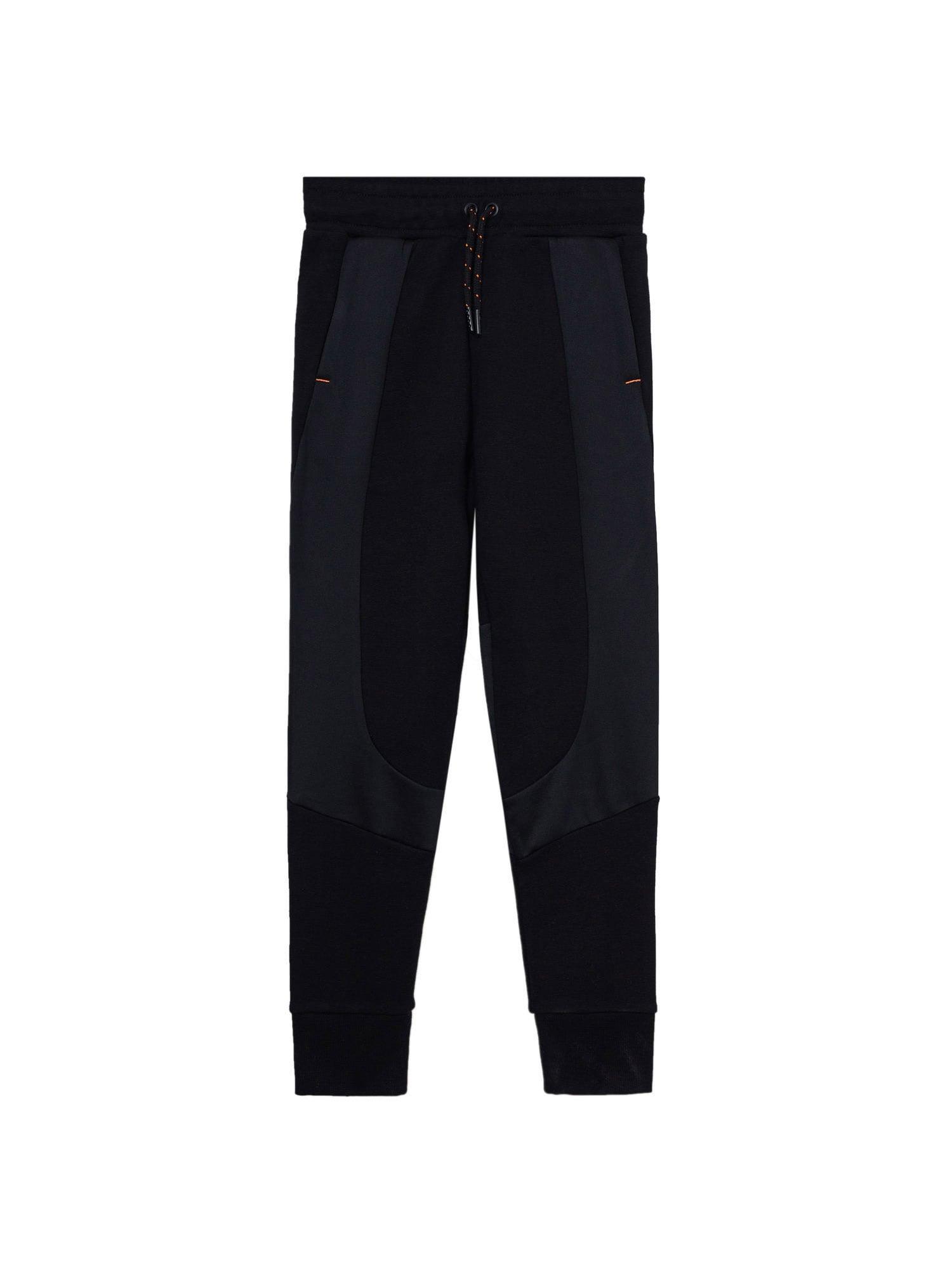MANGO KIDS Kalhoty 'Liam'  černá / tmavě šedá