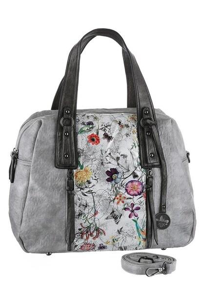 Handtaschen für Frauen - RIEKER Henkeltasche grau schwarz silber  - Onlineshop ABOUT YOU