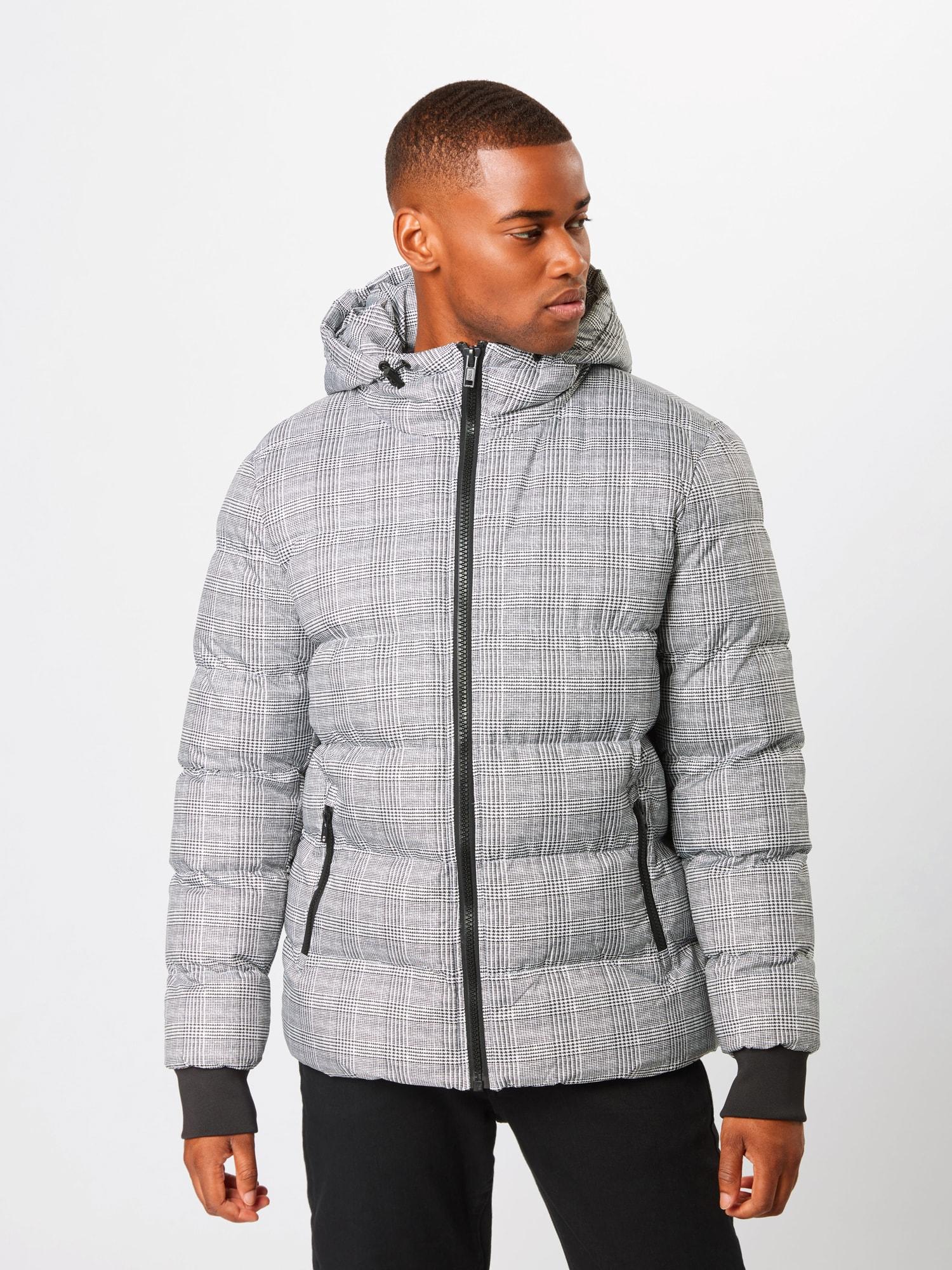 Urban Classics Zimná bunda  sivá.