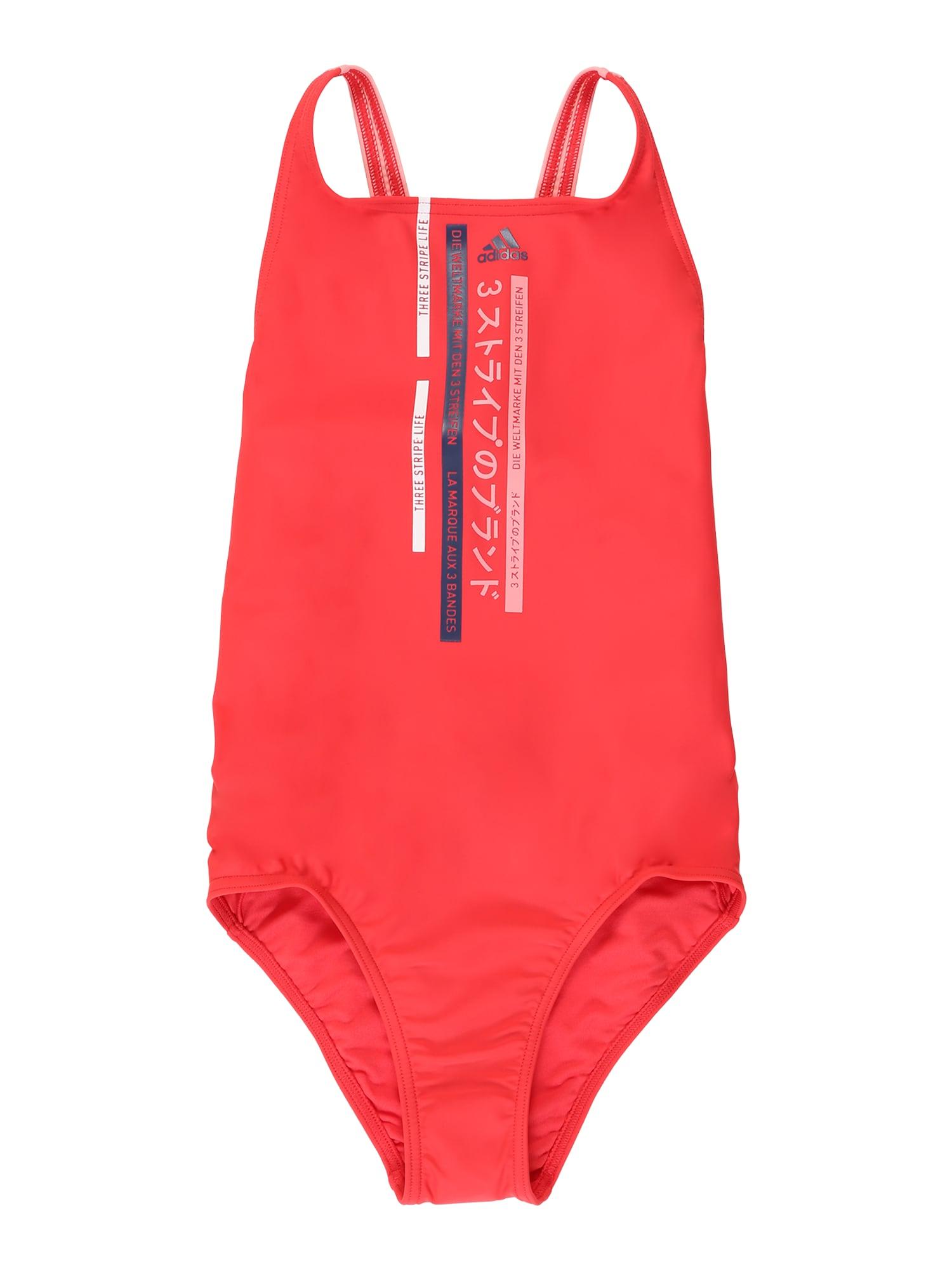 ADIDAS PERFORMANCE Sportinis maudymosi kostiumėlis rožių spalva / raudona
