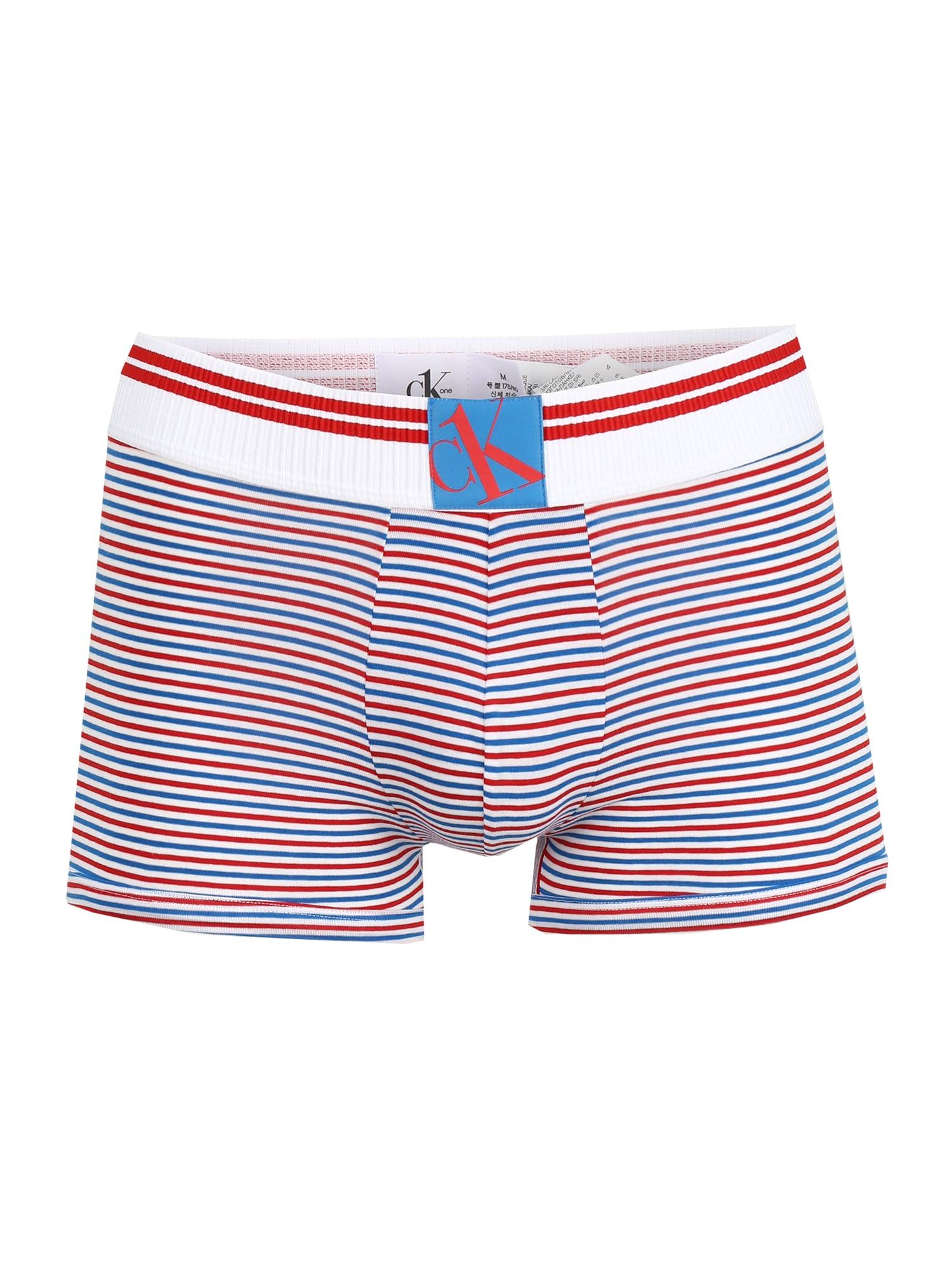 Calvin Klein Underwear Boxer trumpikės šviesiai mėlyna / raudona / balta