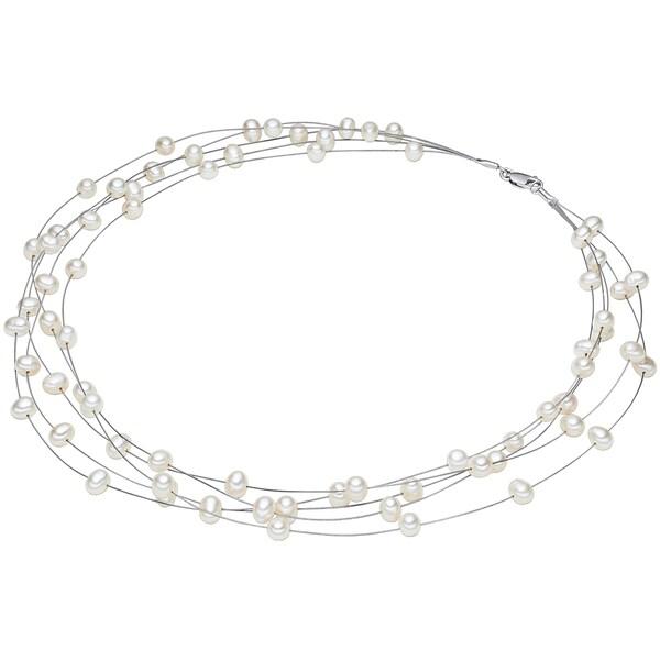 Ketten für Frauen - Valero Pearls Kette mit mehrsträngigen Süßwasser Zuchtperlen silber  - Onlineshop ABOUT YOU