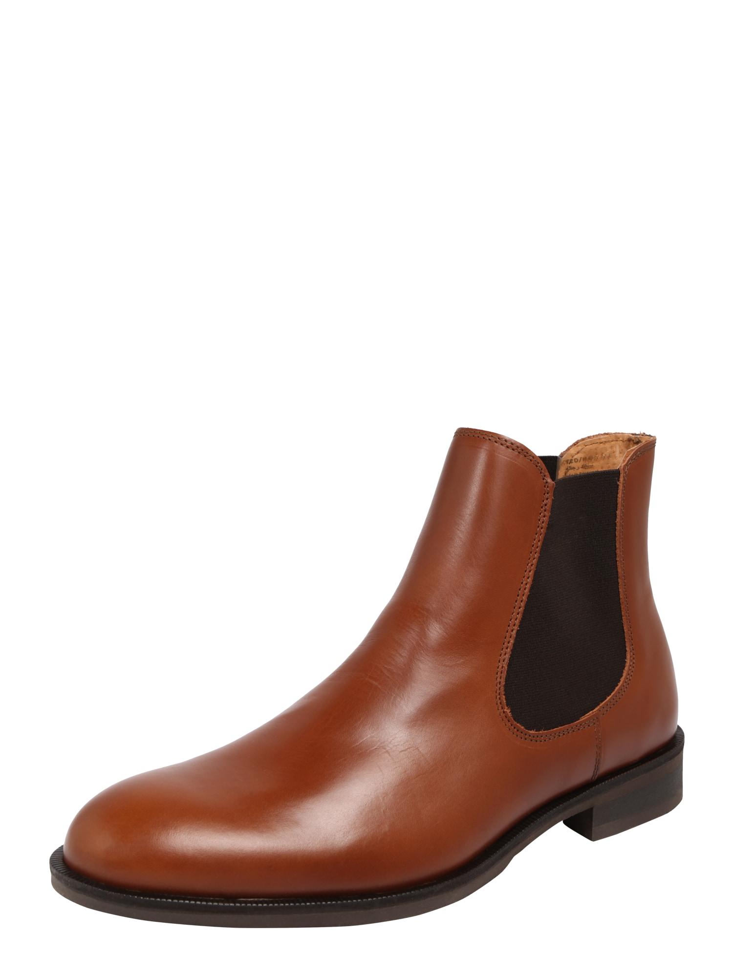 SELECTED HOMME Chelsea batai ruda (konjako)