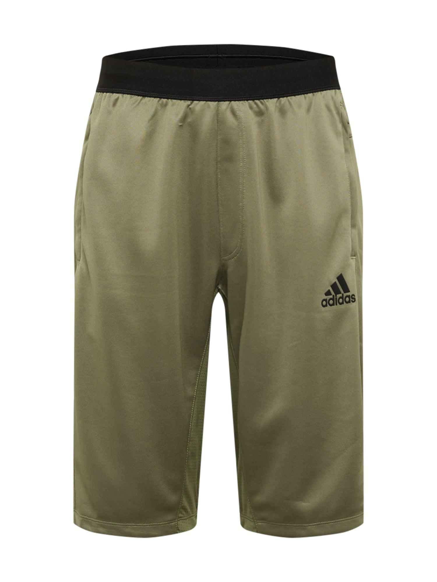 ADIDAS PERFORMANCE Sportovní kalhoty  černá / khaki