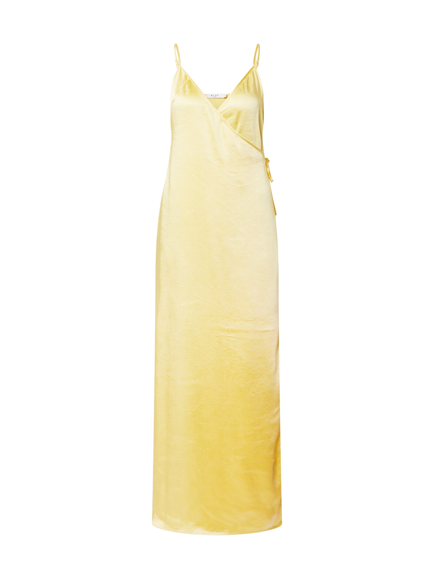 Zomerjurk 'thin strap satin slit dress'