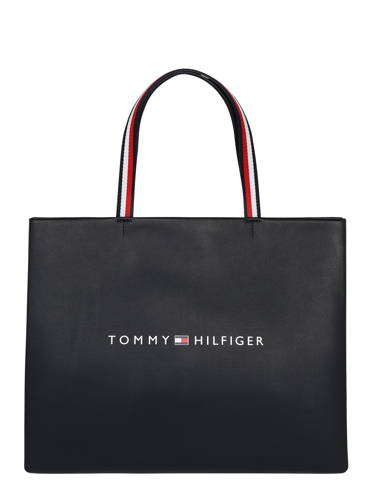 TOMMY HILFIGER Pirkinių krepšys 'TOMMY' mėlyna / raudona / balta