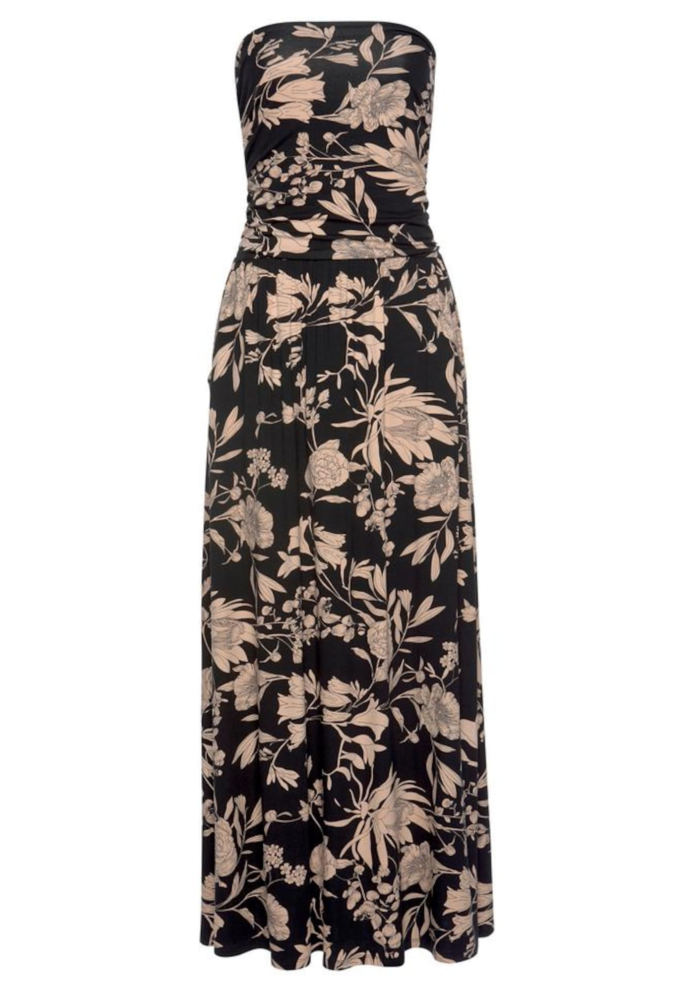 LASCANA Paplūdimio suknelė juoda / rausvai pilka