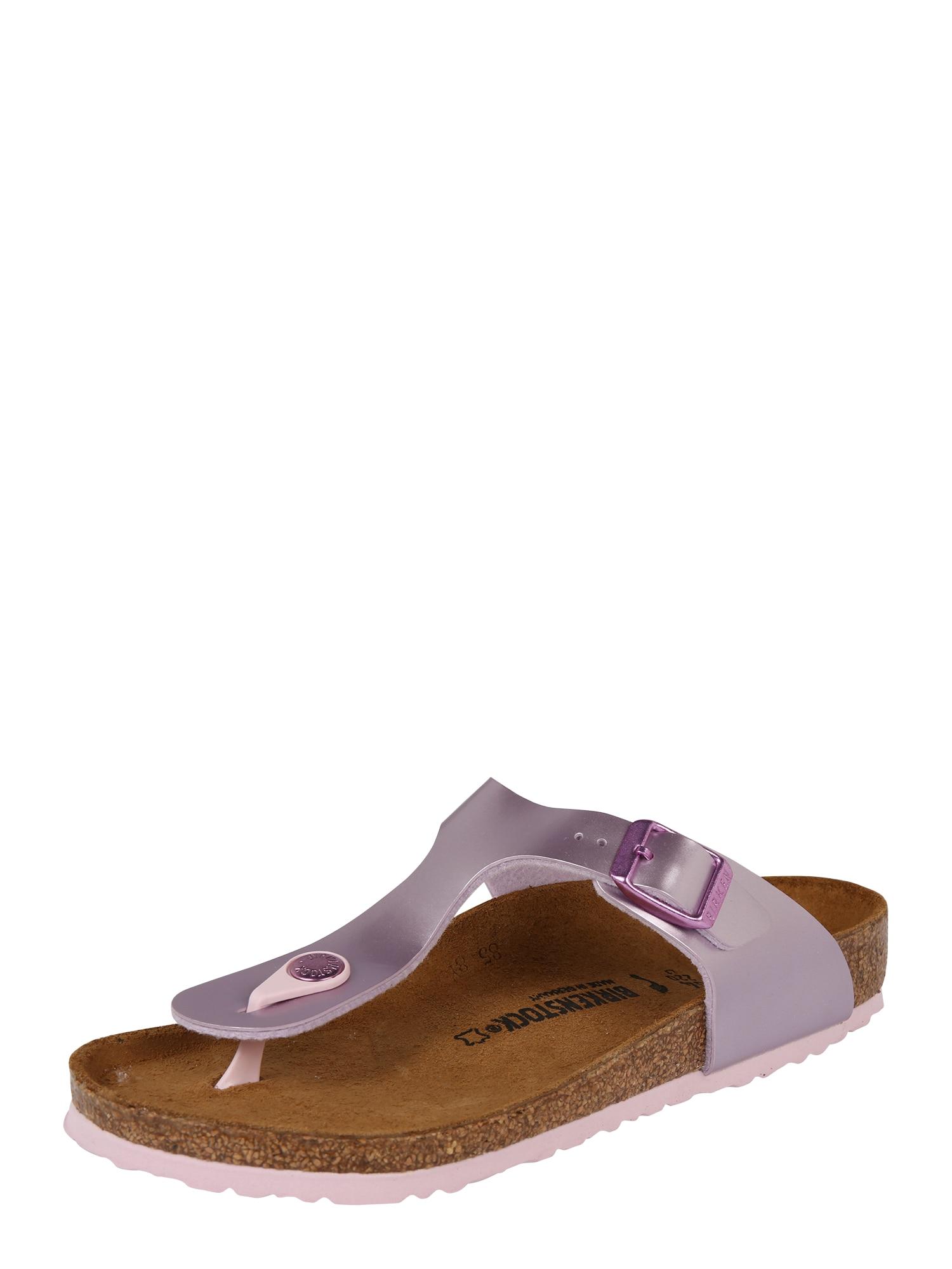 BIRKENSTOCK Sandalai 'Gizeh' rausvai violetinė spalva