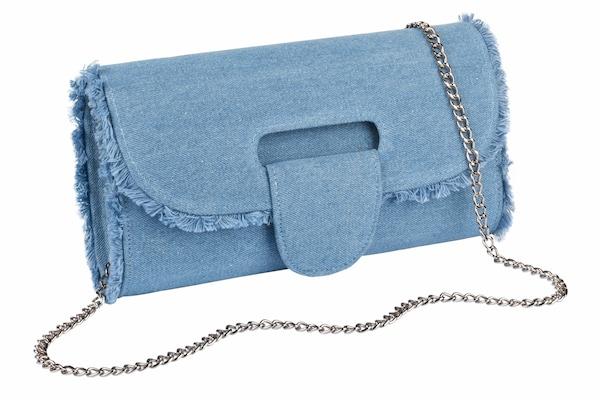 Clutches für Frauen - COLLEZIONE ALESSANDRO Clutch mit Überschlag blue denim  - Onlineshop ABOUT YOU