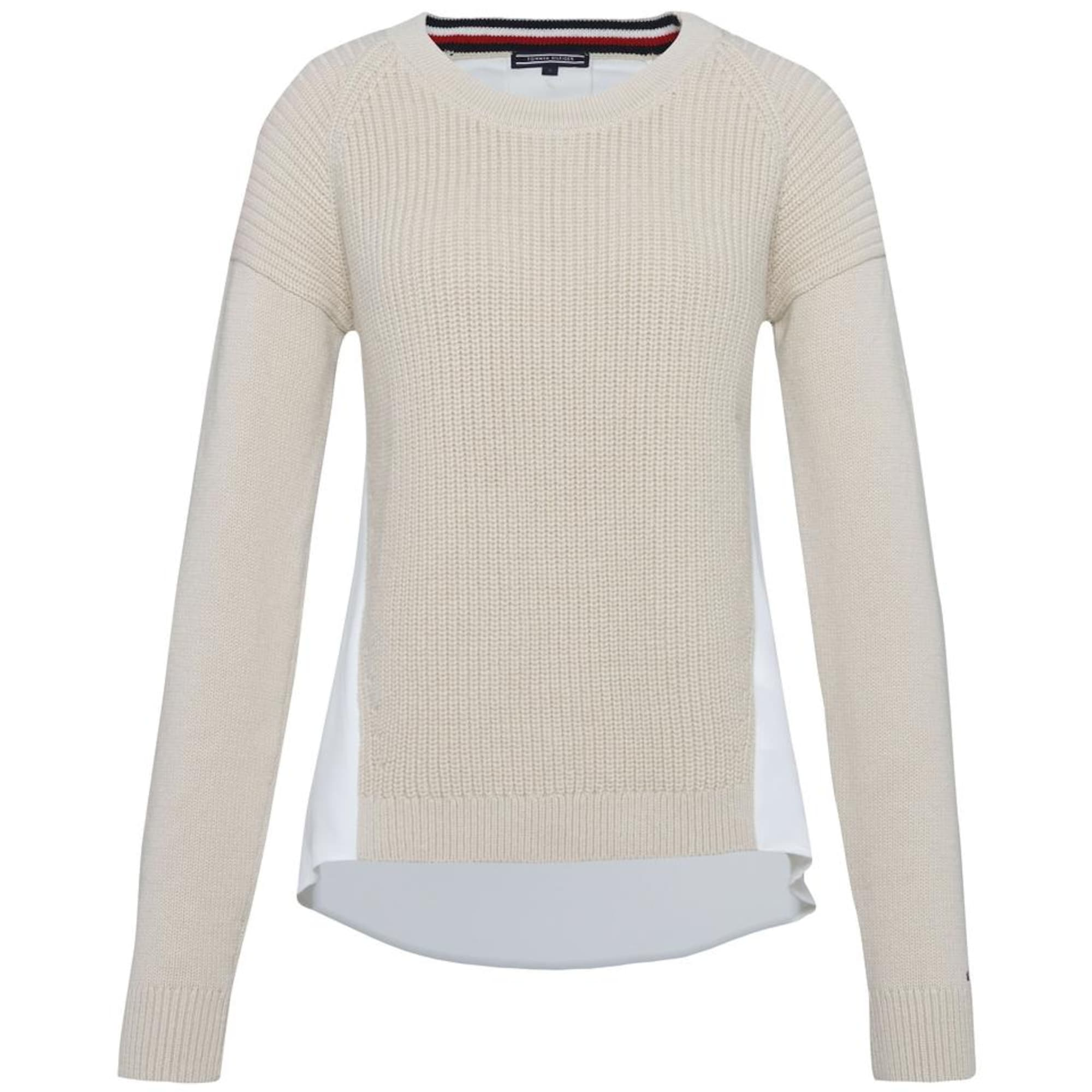 huge selection of 802d4 5e040 AboutYou Damen Tommy Hilfiger Pullover 'ABELLA FABRIC MIX C-NK SWTR' beige,  weiß | 08719256225076