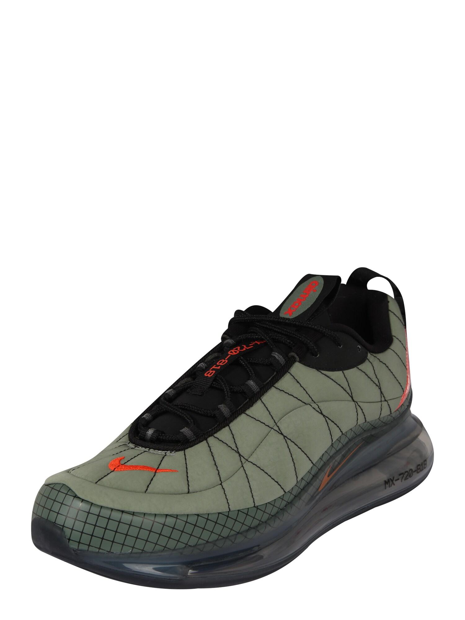 Nike Sportswear Sportbačiai be auliuko juoda / oranžinė / alyvuogių spalva