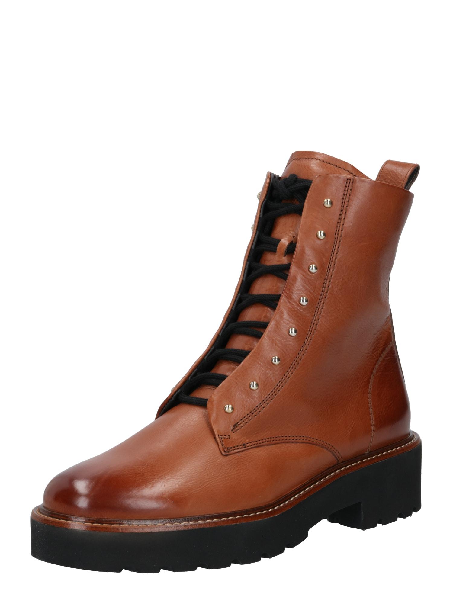 Paul Green Suvarstomieji kulkšnis dengiantys batai ruda (konjako)
