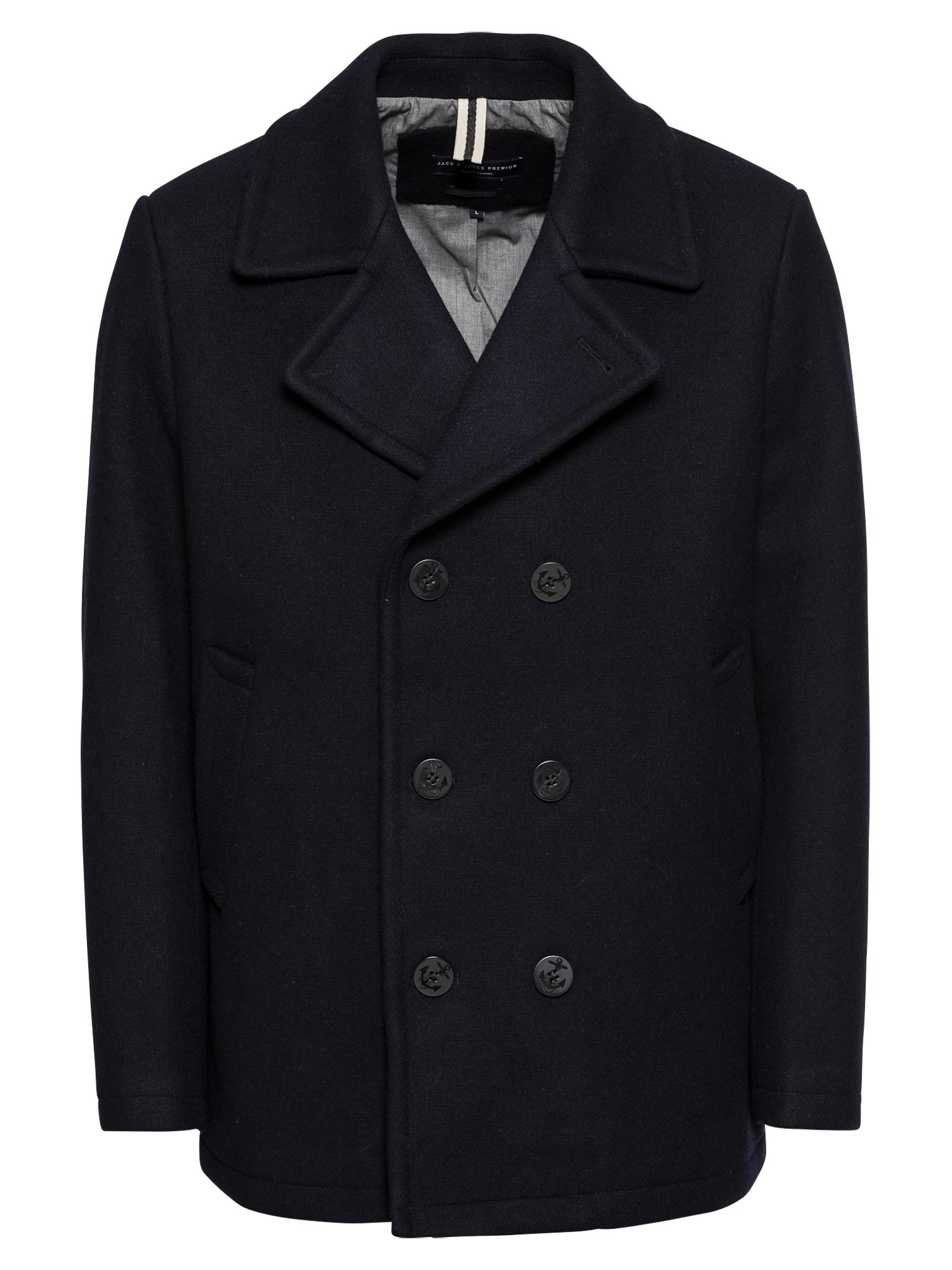 JACK & JONES Rudeninis-žieminis paltas tamsiai mėlyna