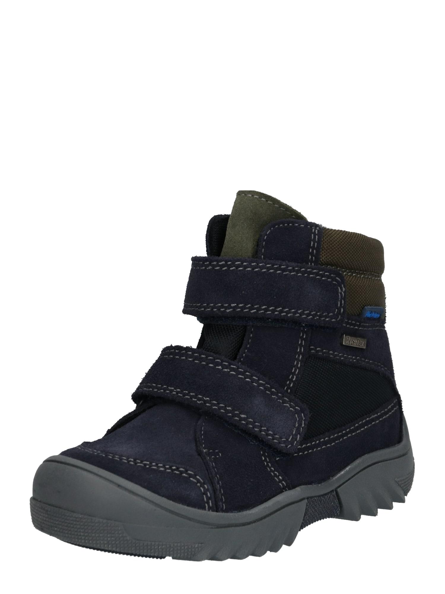 RICHTER Auliniai batai su kulniuku mėlyna / alyvuogių spalva