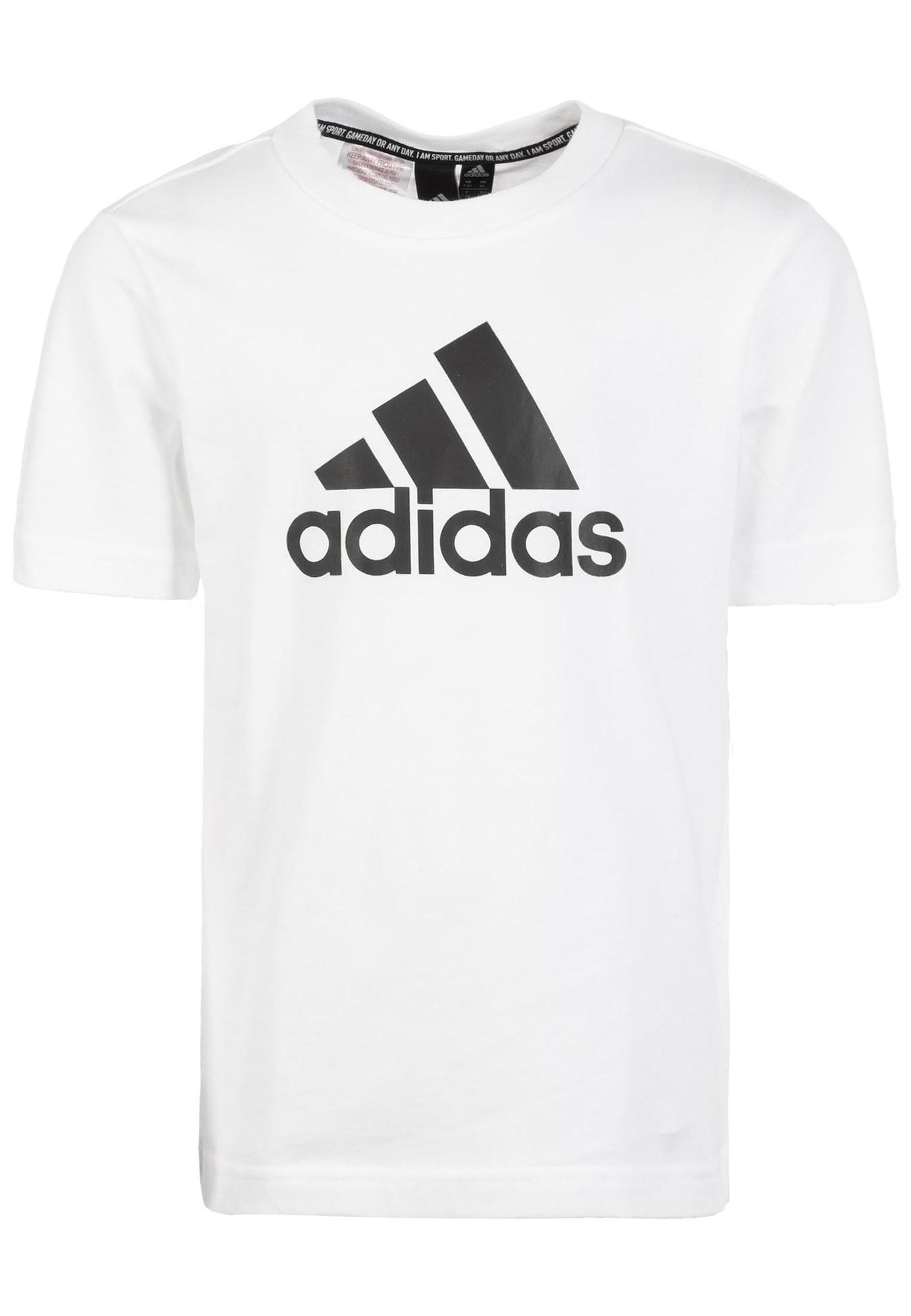 ADIDAS PERFORMANCE Sportiniai marškinėliai 'Must Have Badge of Sport' juoda / balta