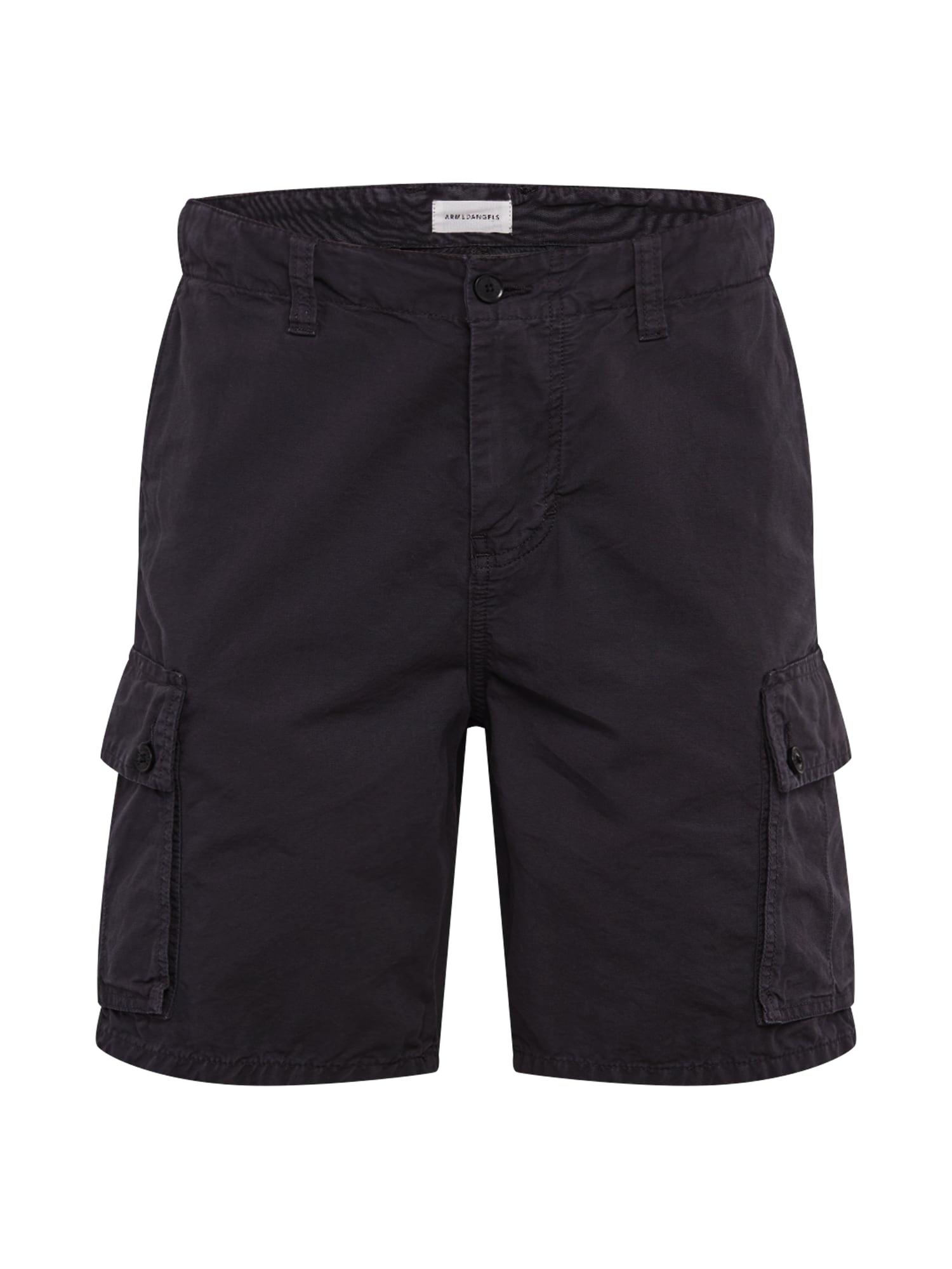 ARMEDANGELS Laisvo stiliaus kelnės 'CAARGO' juoda