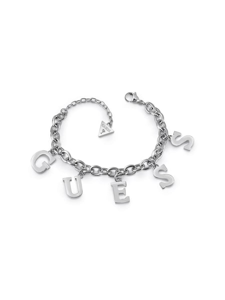 Armbaender für Frauen - GUESS Armband 'Follow my charm' silber  - Onlineshop ABOUT YOU