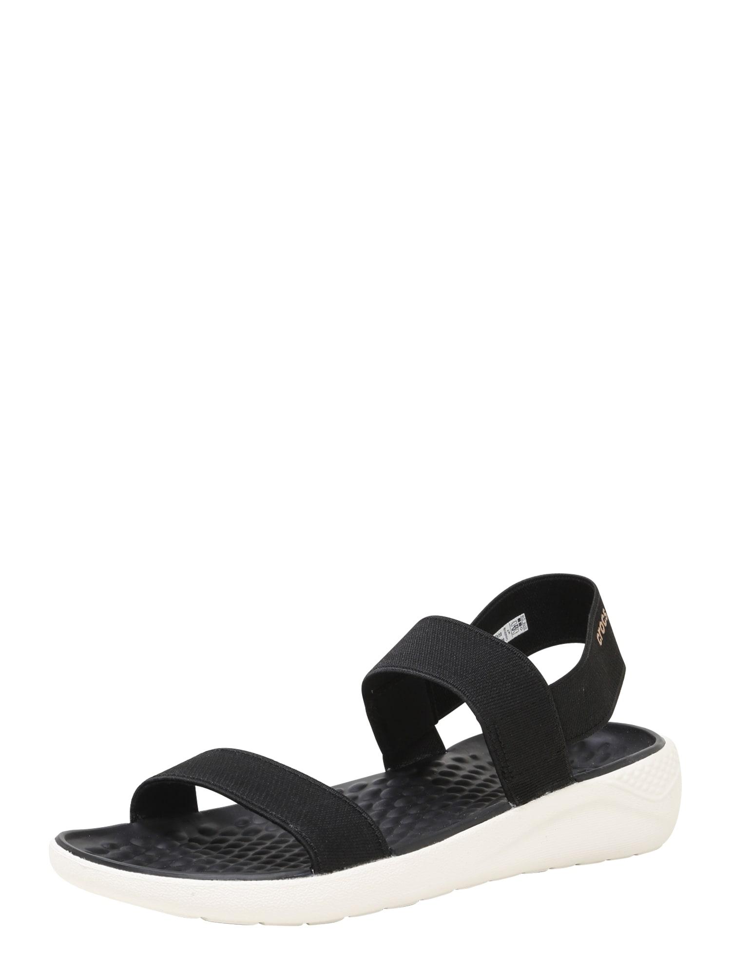 Páskové sandály LiteRide černá Crocs
