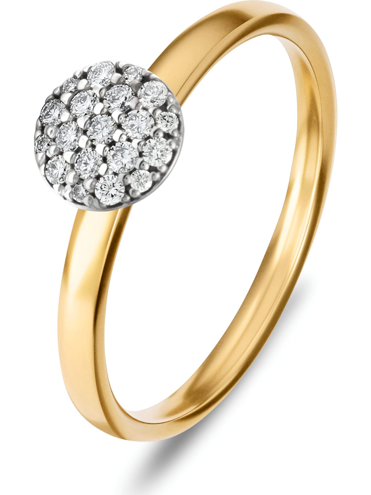 Damen Christ Ring gold, grau,  schwarz | 04043145885480