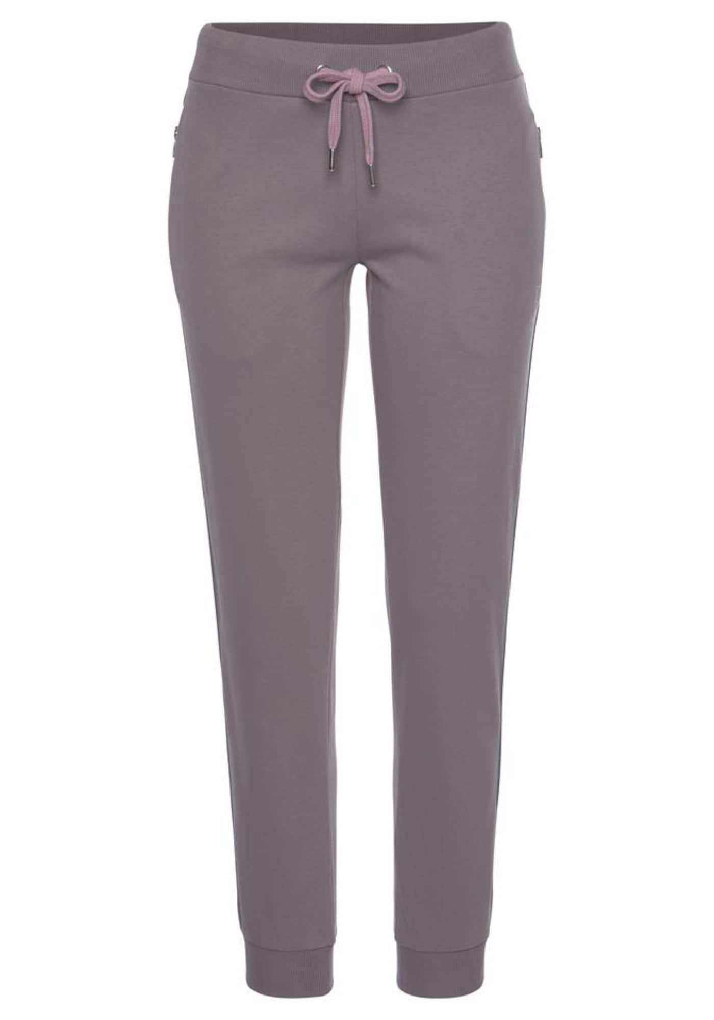 LASCANA ACTIVE Sportinės kelnės rausvai pilka