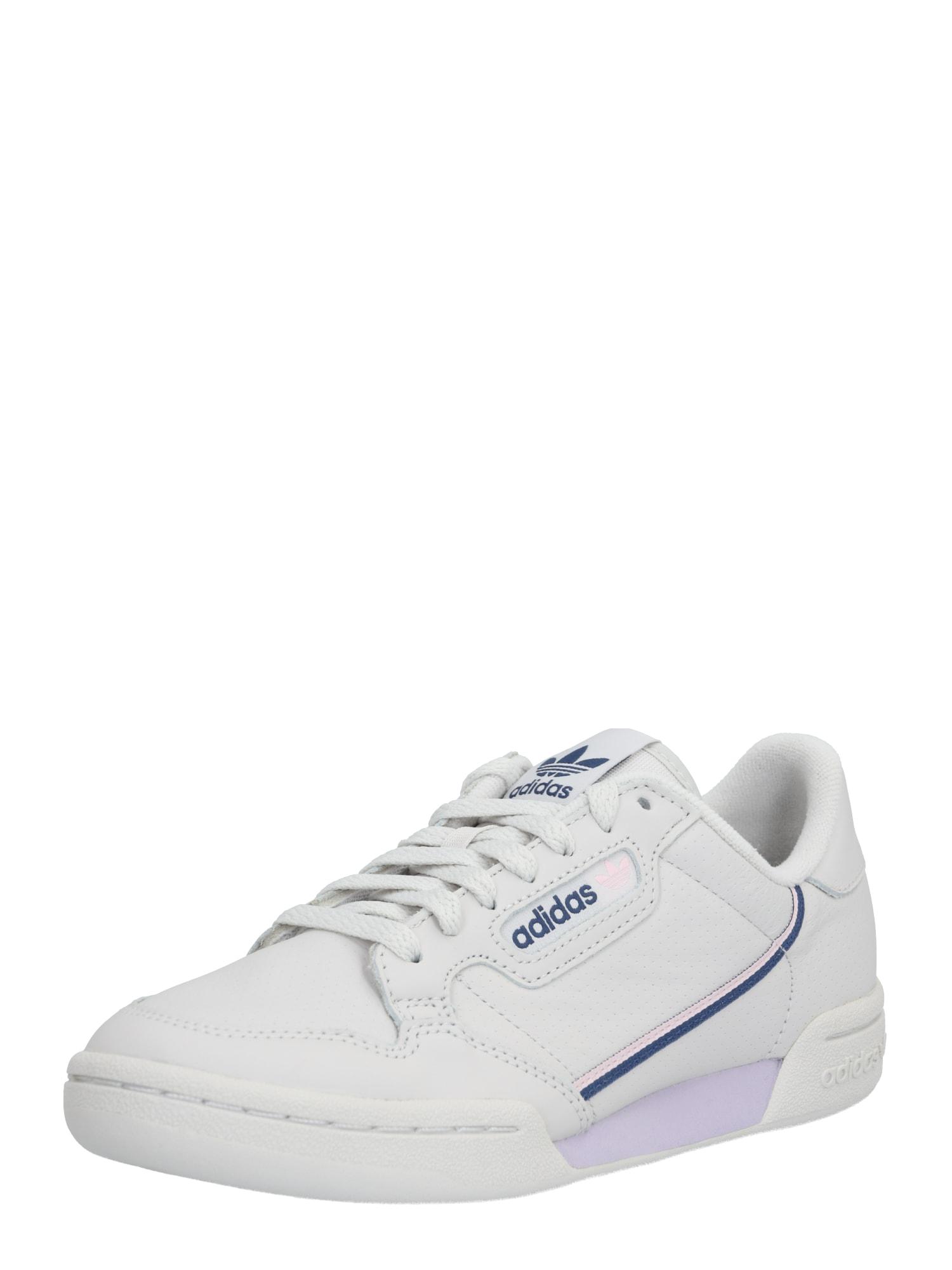 ADIDAS ORIGINALS Nízke tenisky 'Continental 80'  biela / fialová / modré
