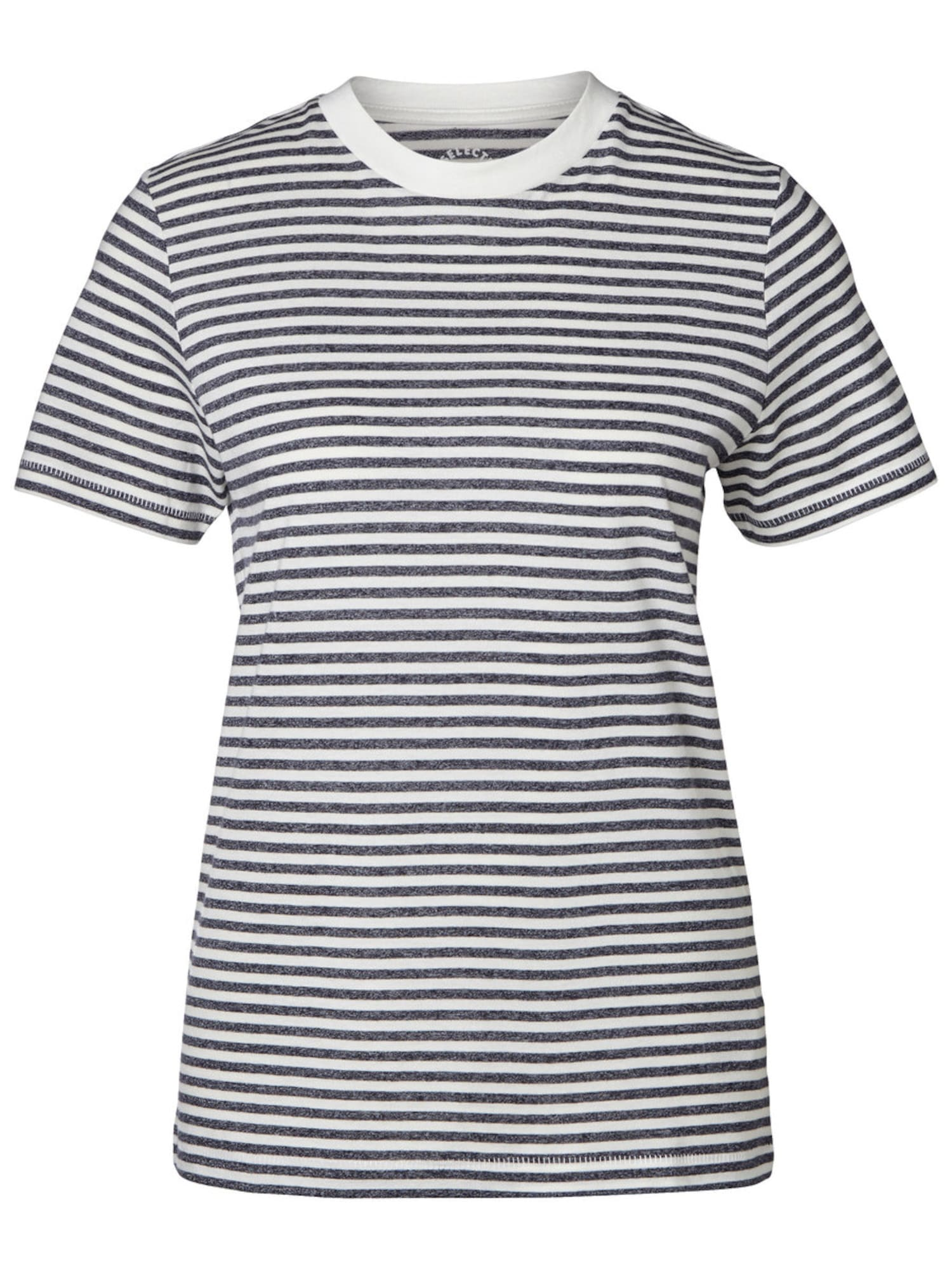 SELECTED FEMME Marškinėliai 'SFMY PERFECT TEE' tamsiai mėlyna / balta
