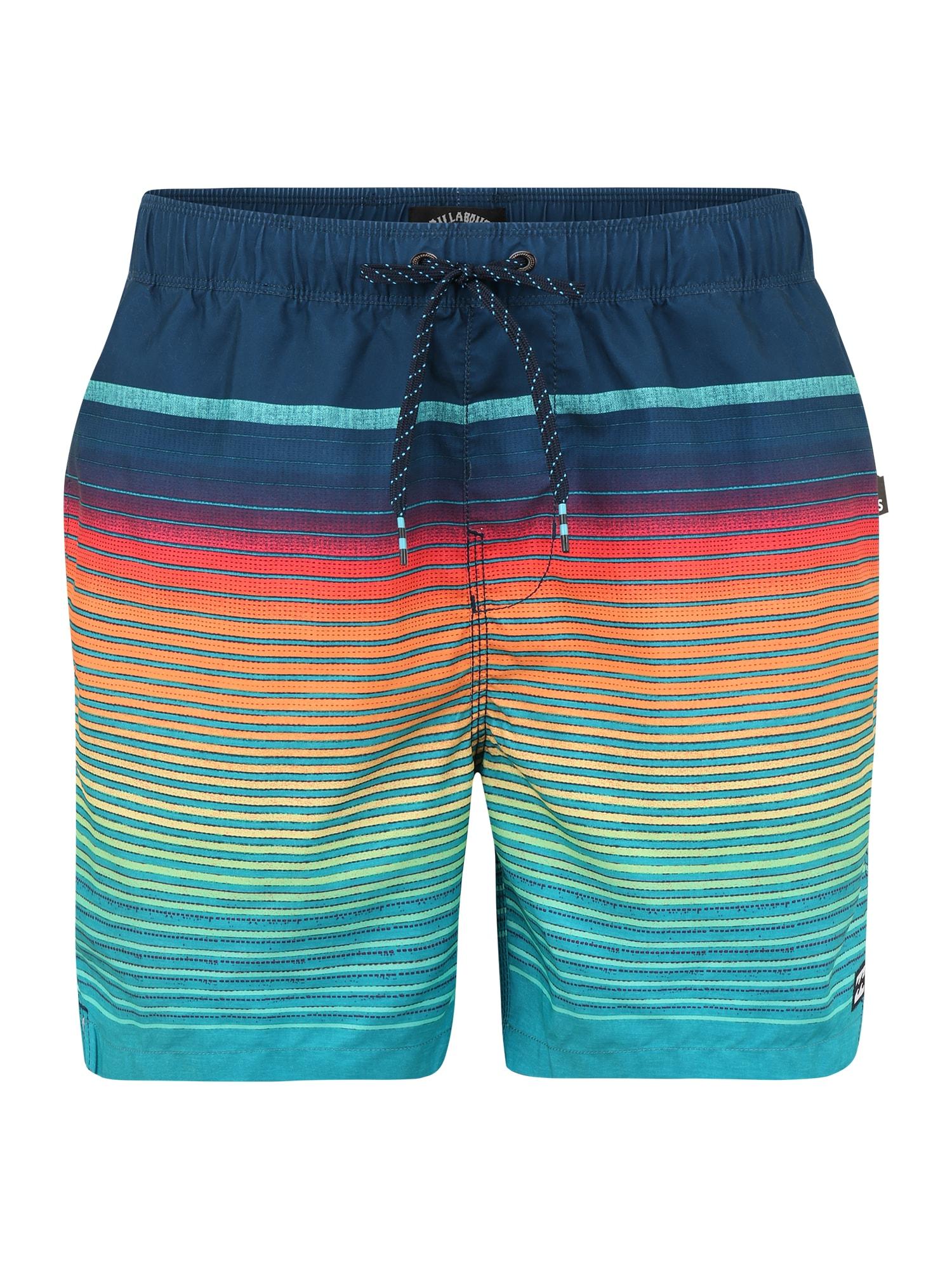 BILLABONG Maudymosi šortai 'all day stripe lb' tamsiai mėlyna / rožių spalva