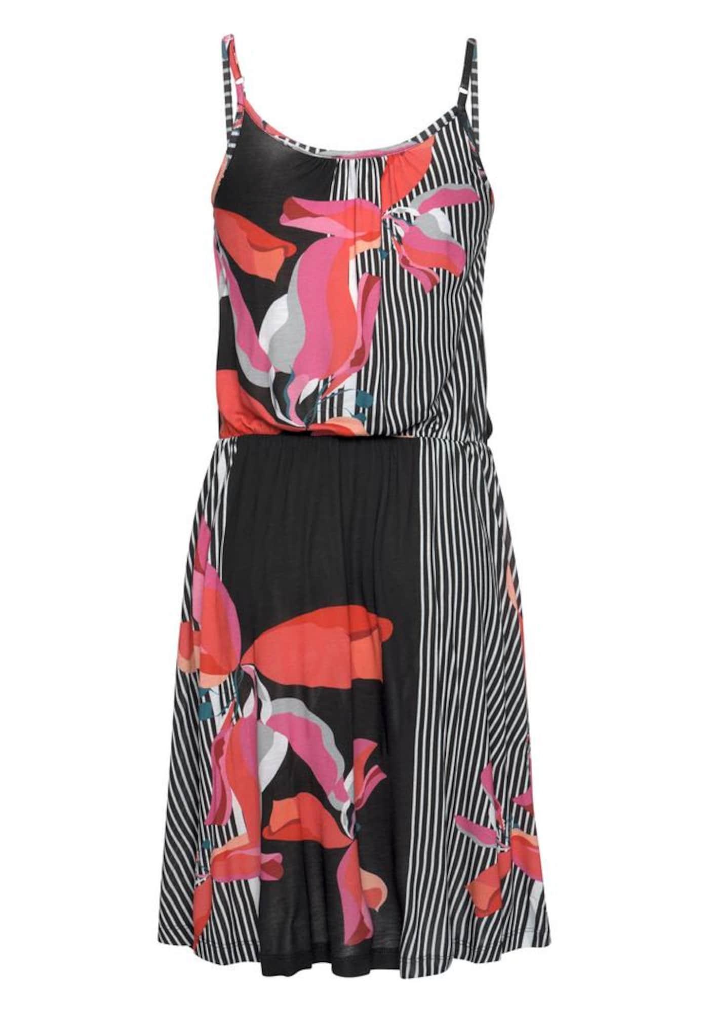 LASCANA Plážové šaty  zmiešané farby / čierna / biela