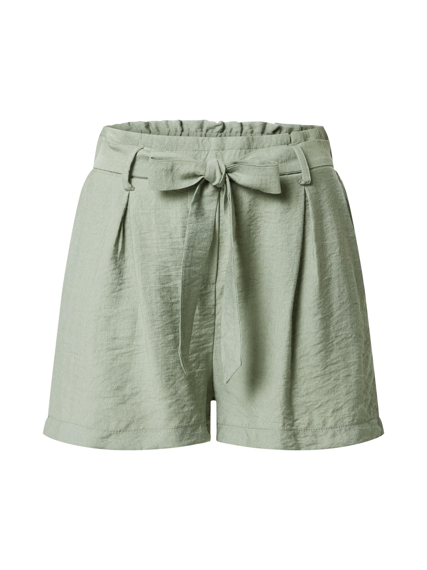 SISTERS POINT Plisované nohavice 'MENA'  pastelovo zelená