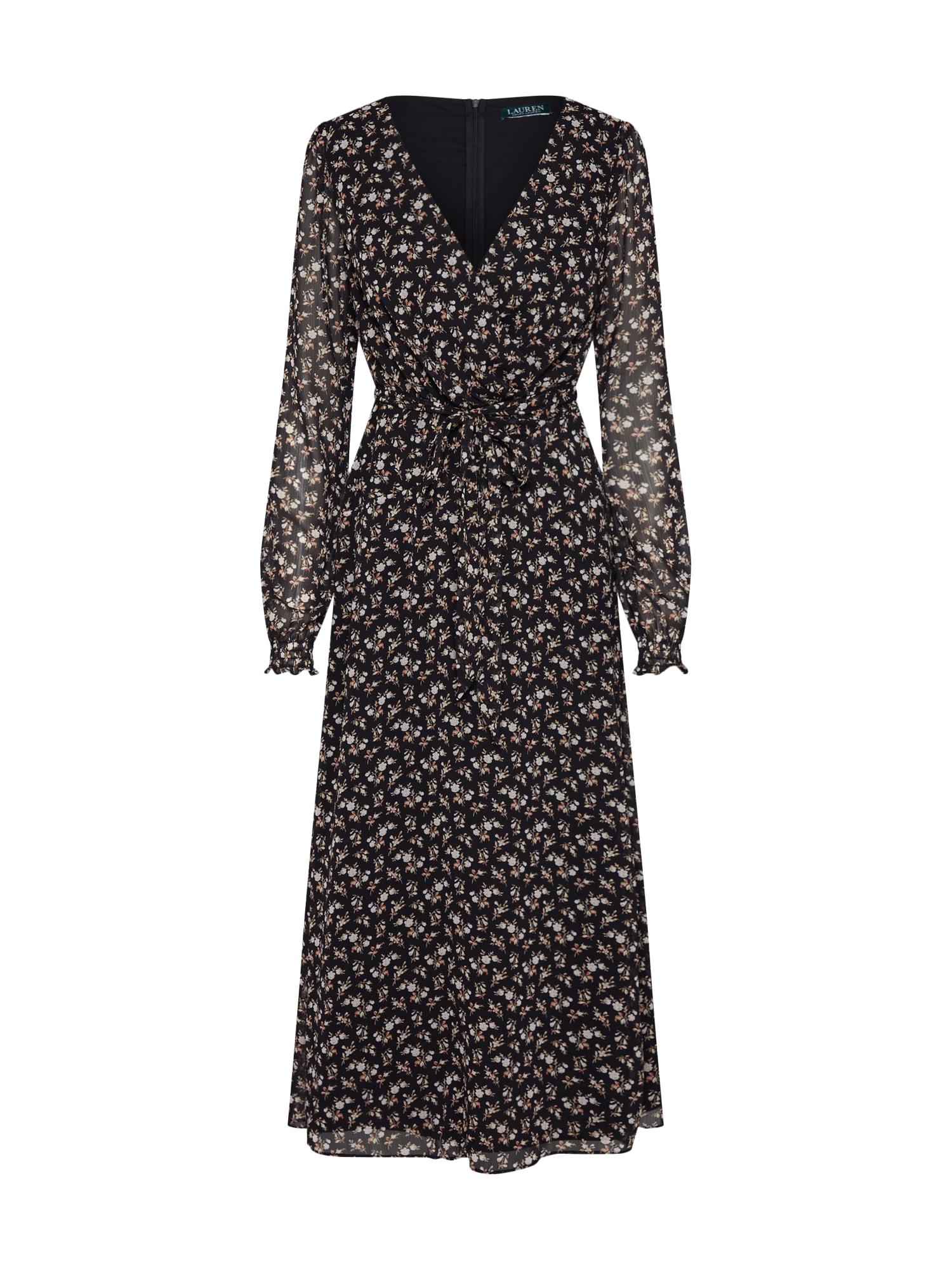 Lauren Ralph Lauren Letní šaty  černá / bílá
