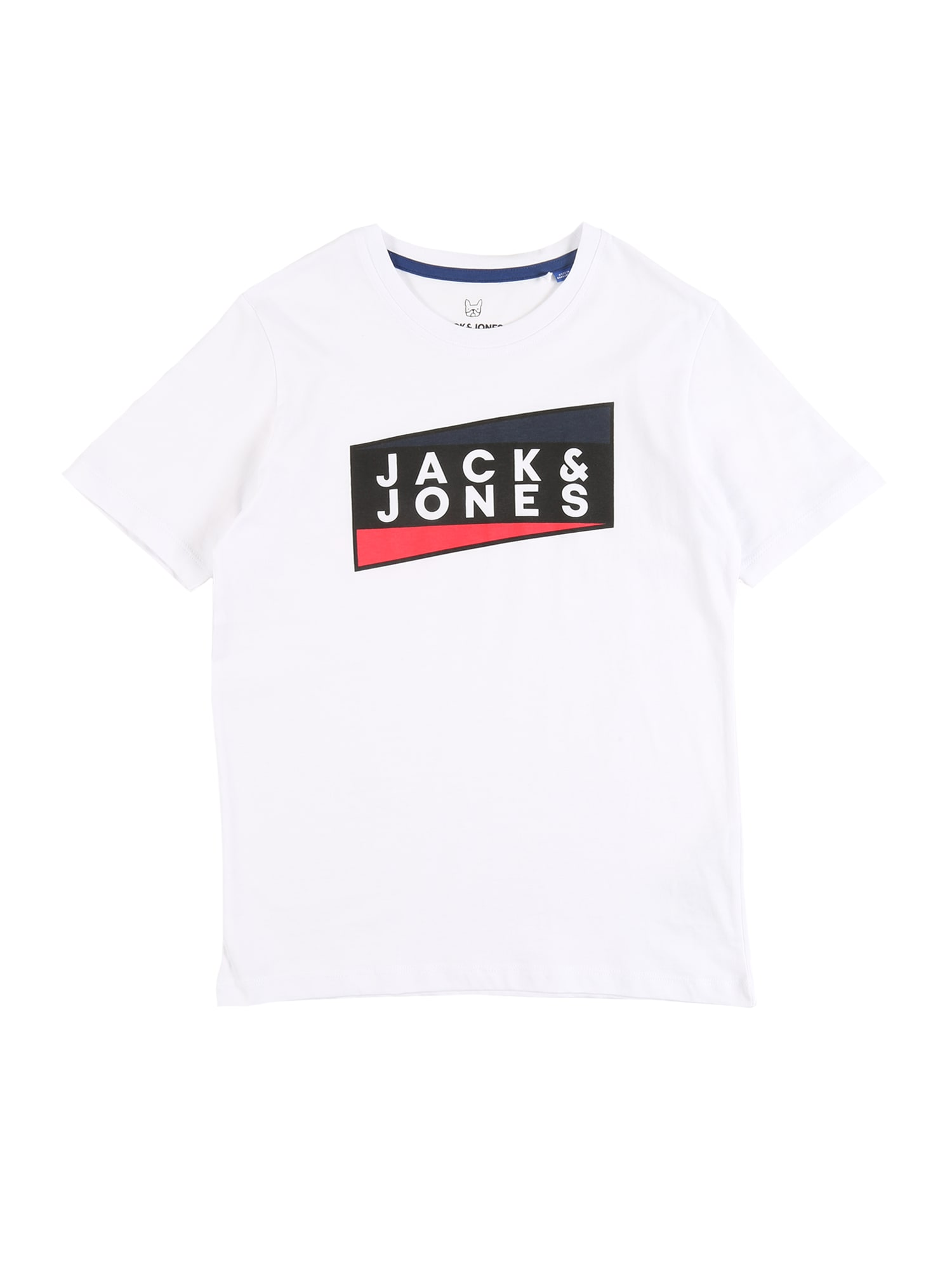 Jack & Jones Junior Marškinėliai 'JCOSHAUN TEE SS CREW NECK JR' balta