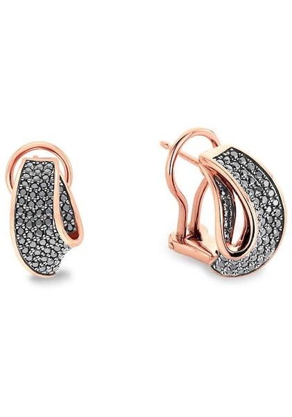 Ohrringe für Frauen - JOOP! Ohrstecker '2023499' rosegold schwarz  - Onlineshop ABOUT YOU