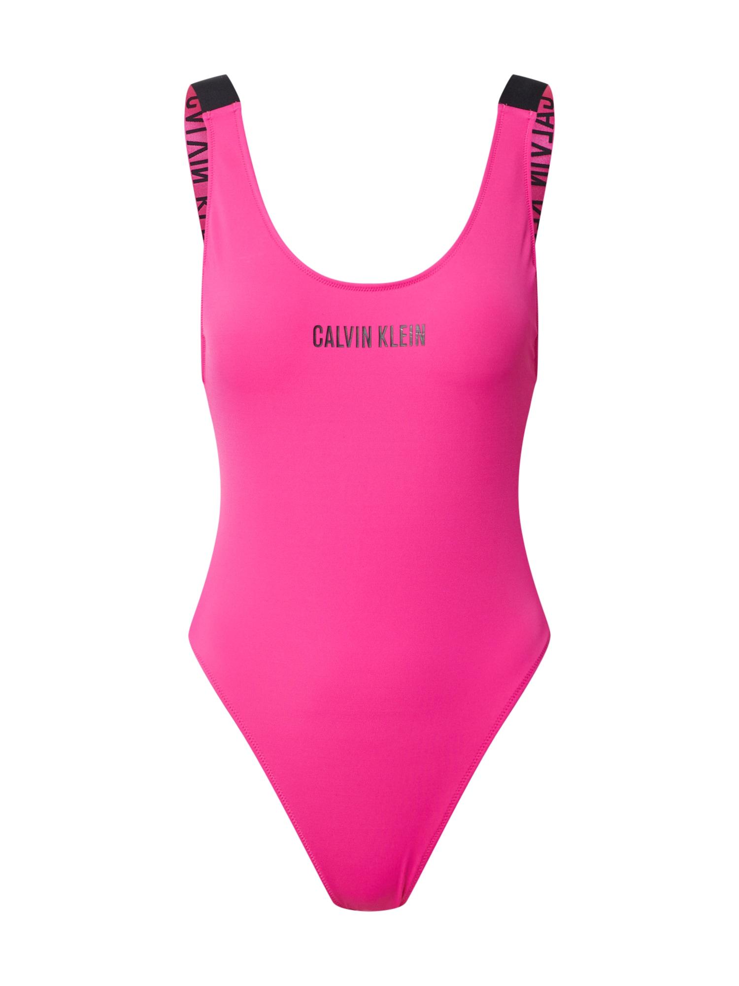 Calvin Klein Swimwear Maudymosi kostiumėlis ' Scoop ' juoda / rožinė