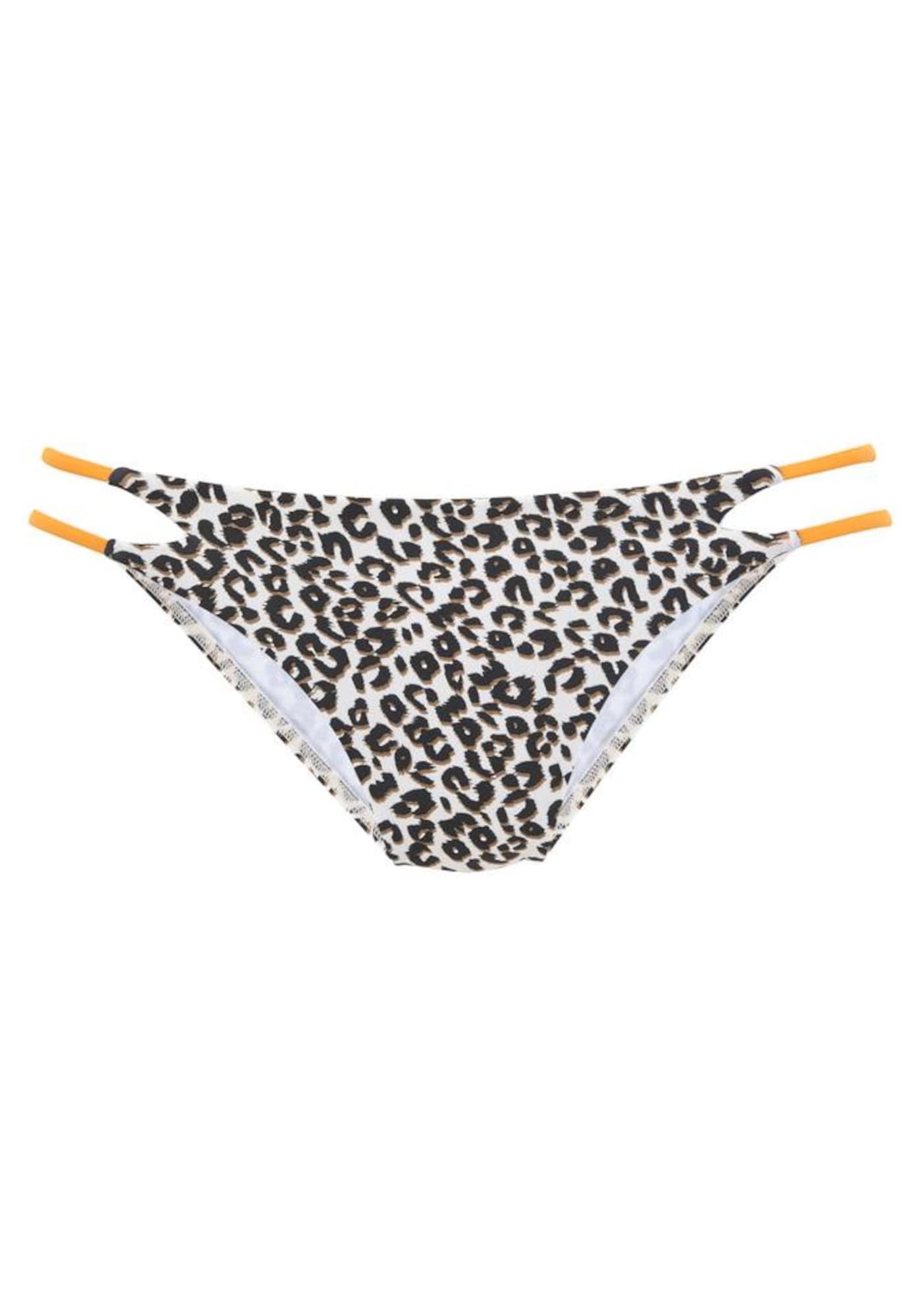 BUFFALO Bikinio kelnaitės oranžinė / juoda / ruda / balta