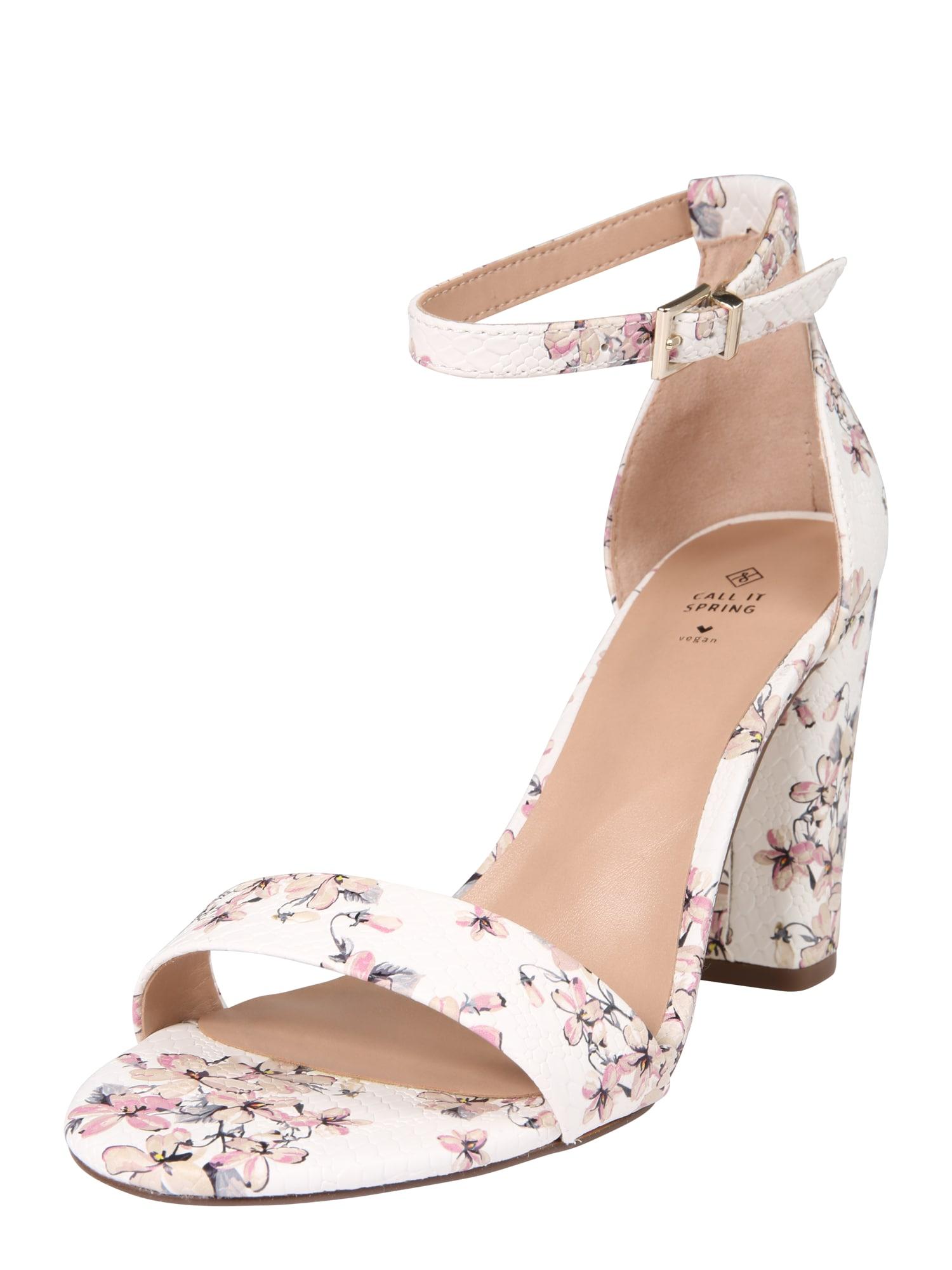 CALL IT SPRING Remienkové sandále 'TAYVIA'  zmiešané farby / biela