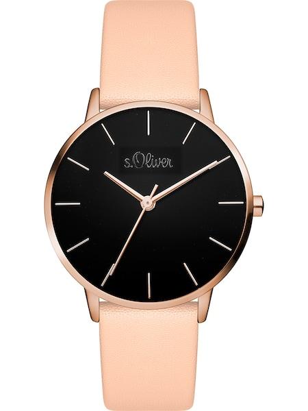 Uhren für Frauen - S.Oliver Uhr rosa schwarz  - Onlineshop ABOUT YOU