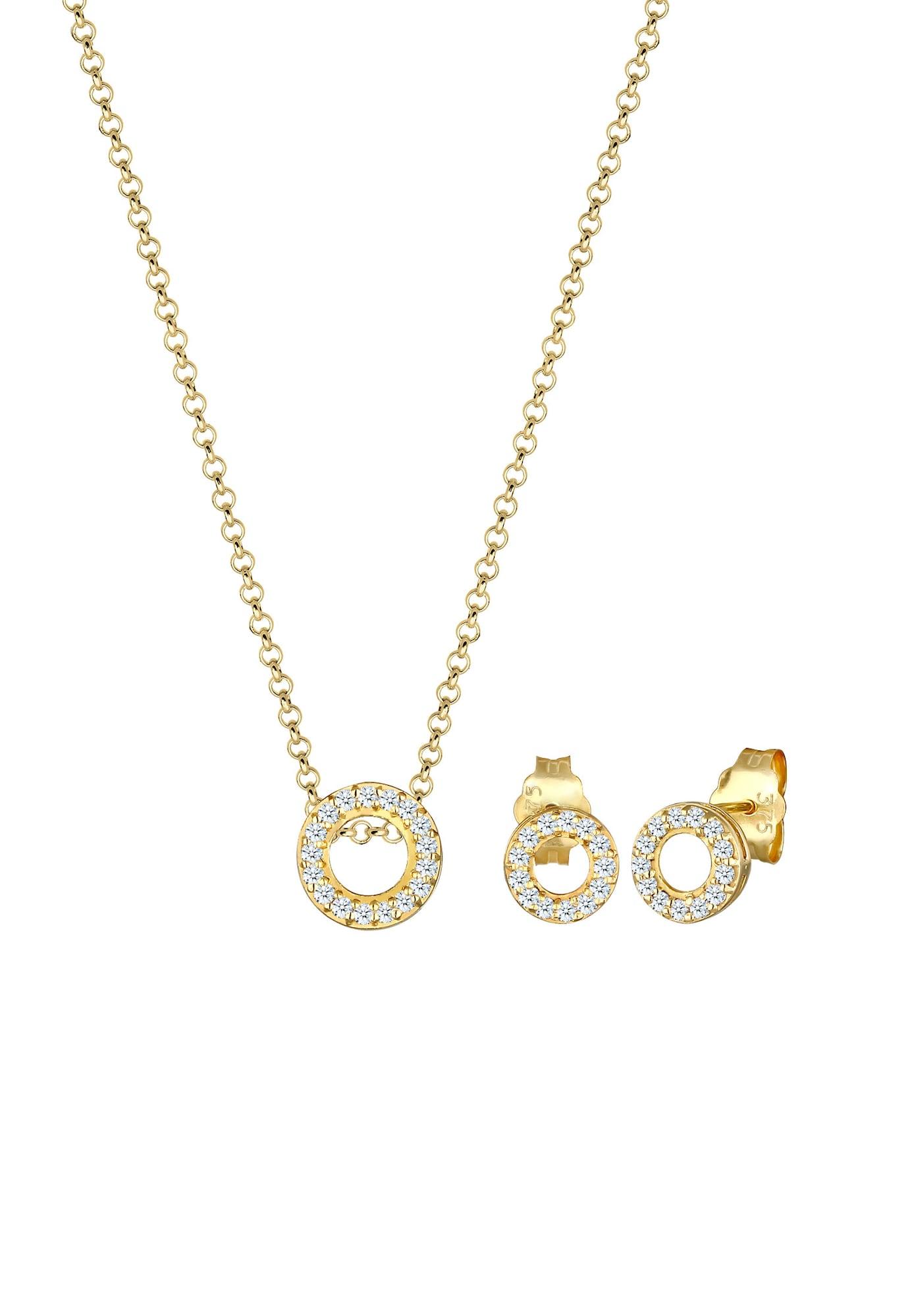 Schmuckset Diamant, Geo, Kreis   Schmuck > Schmucksets   Diamore