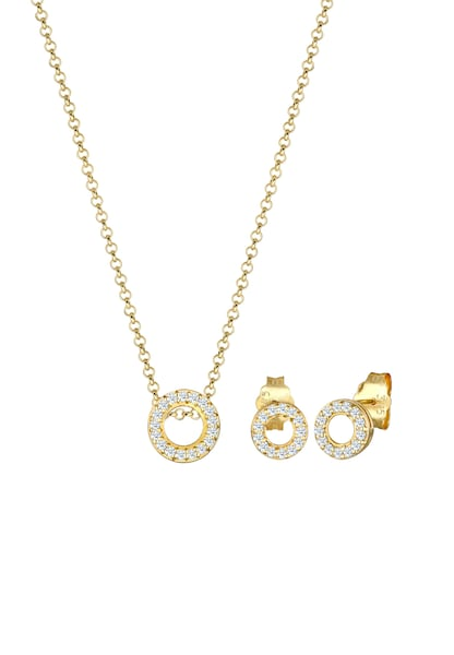 Schmucksets - Schmuckset Diamant, Geo, Kreis › Diamore › gold  - Onlineshop ABOUT YOU