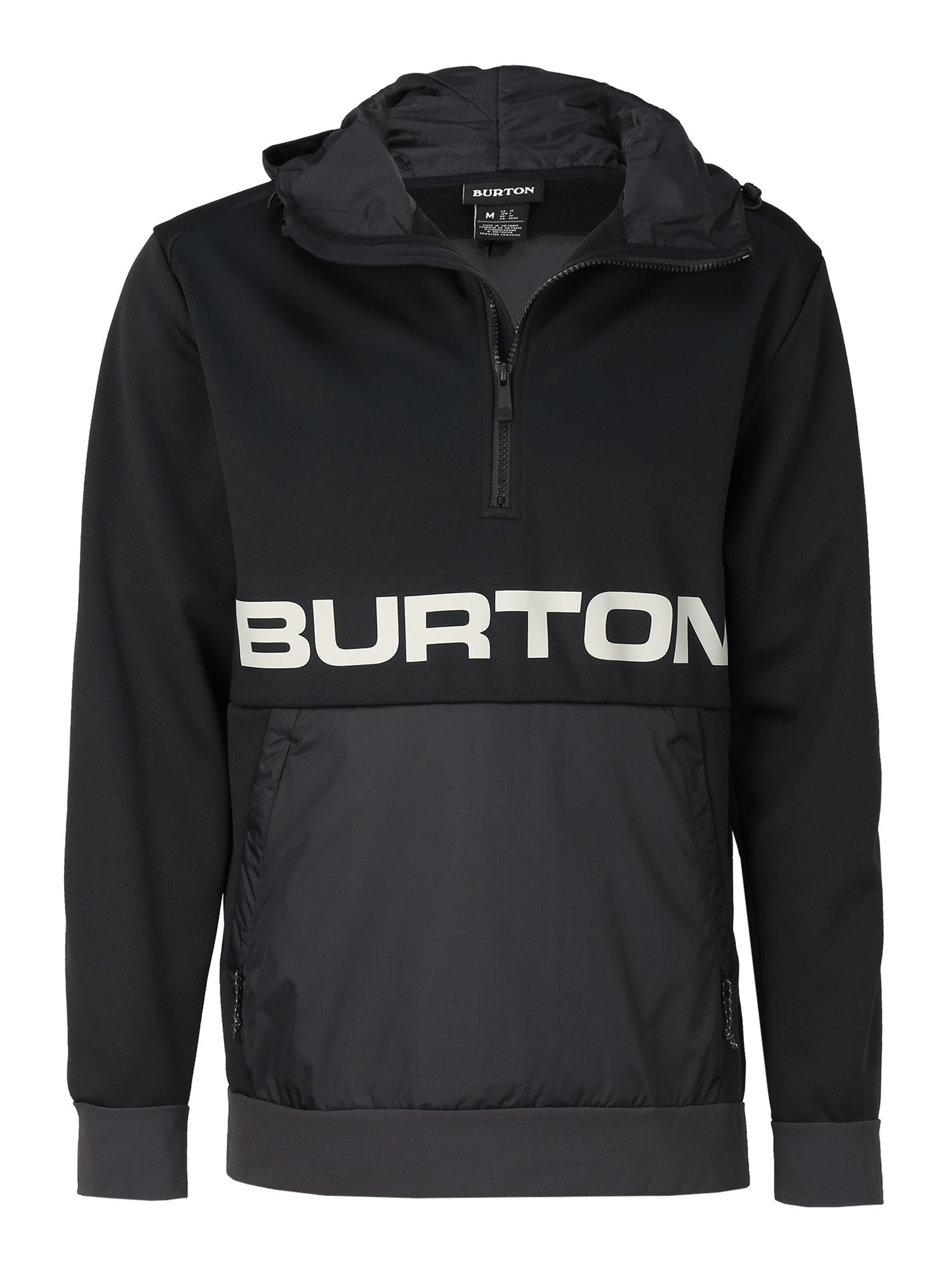 BURTON Megztinis be užsegimo juoda / pilka