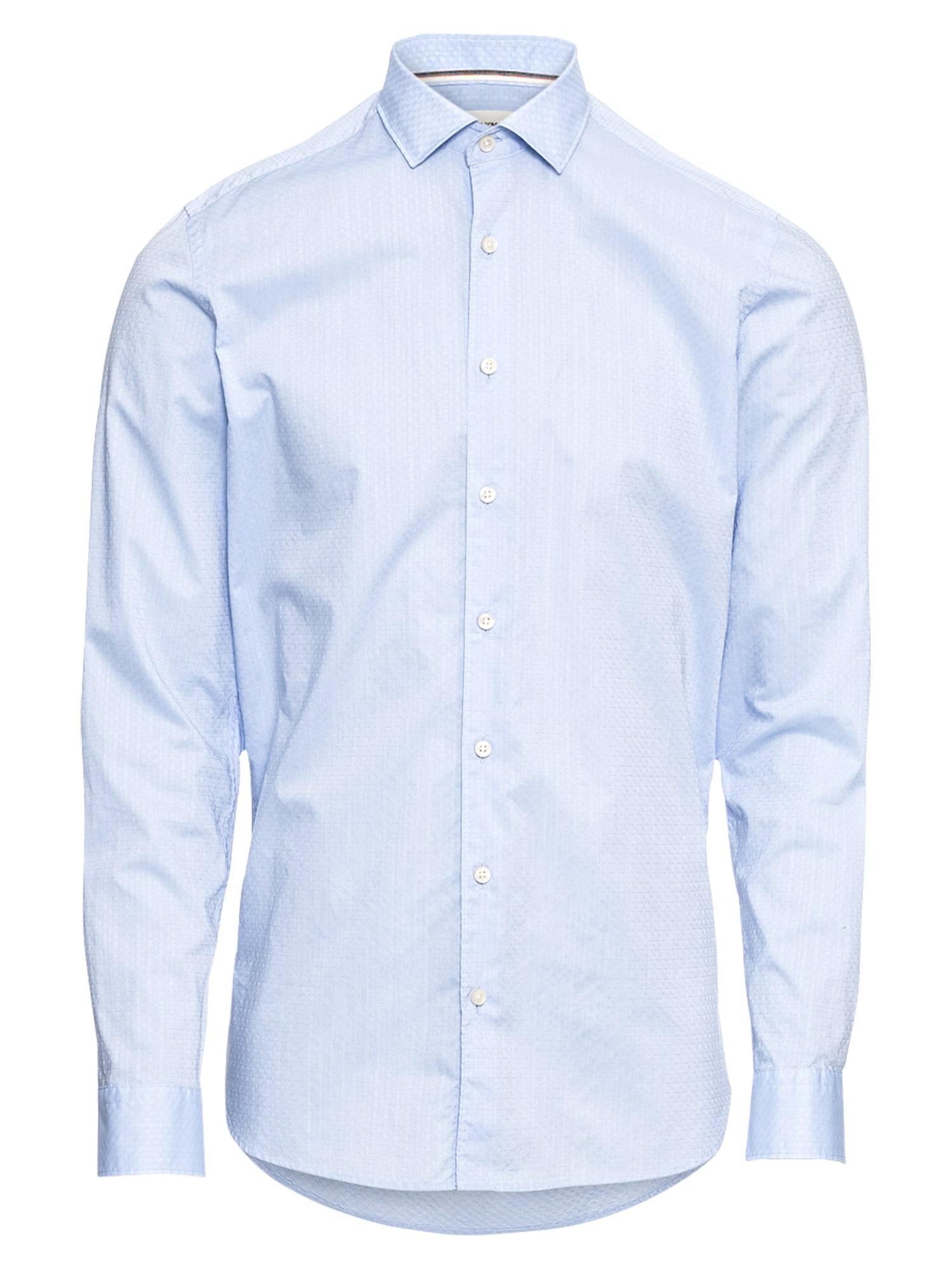 Společenská košile Level 5 Smart Business Struktur modrá OLYMP