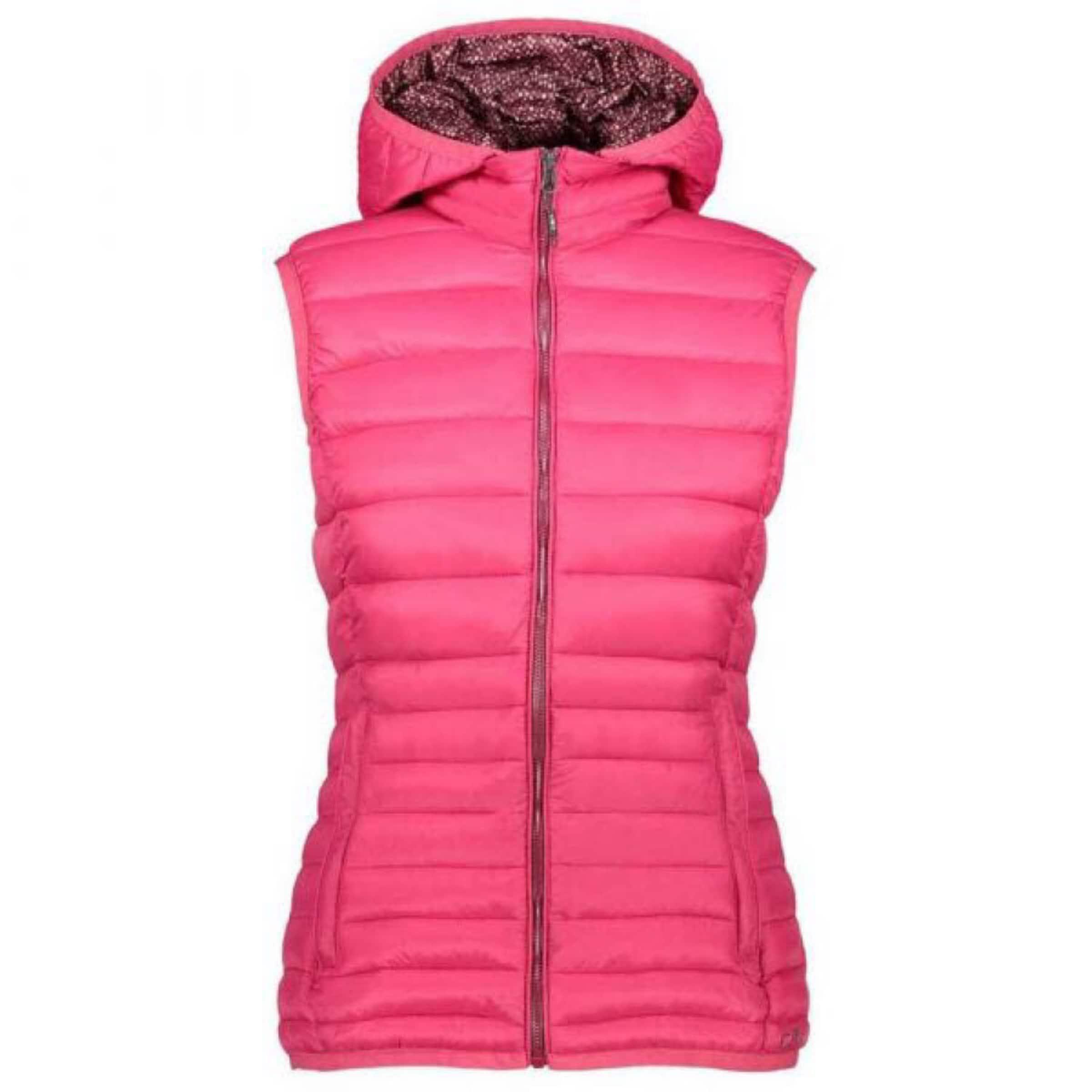 Damen CMP Weste ' Vest Zip Hood ' blau,  grau, pink, türkis | 08055199654789