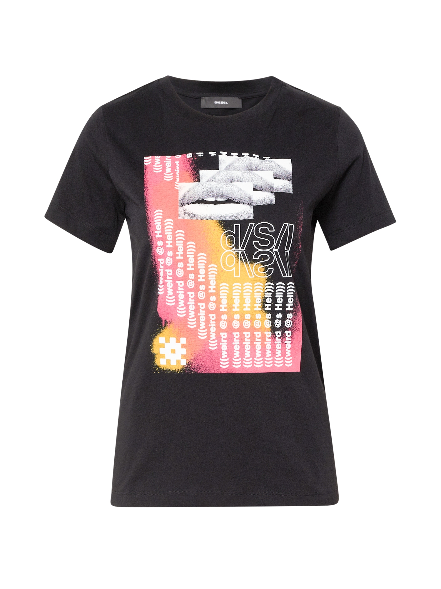 DIESEL Marškinėliai 'SILY' juoda