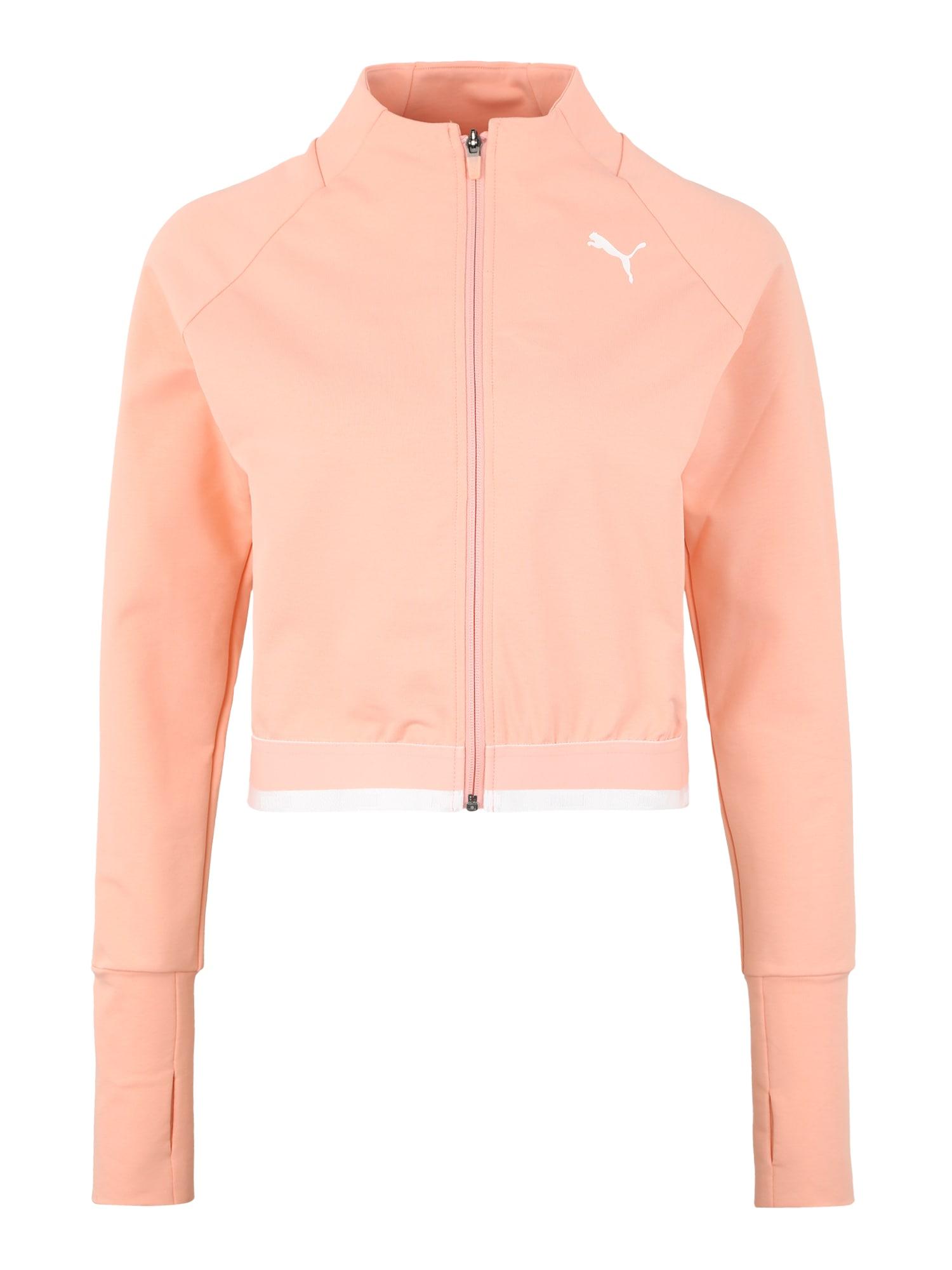 Sportovní bunda Soft Sports Jacket broskvová PUMA