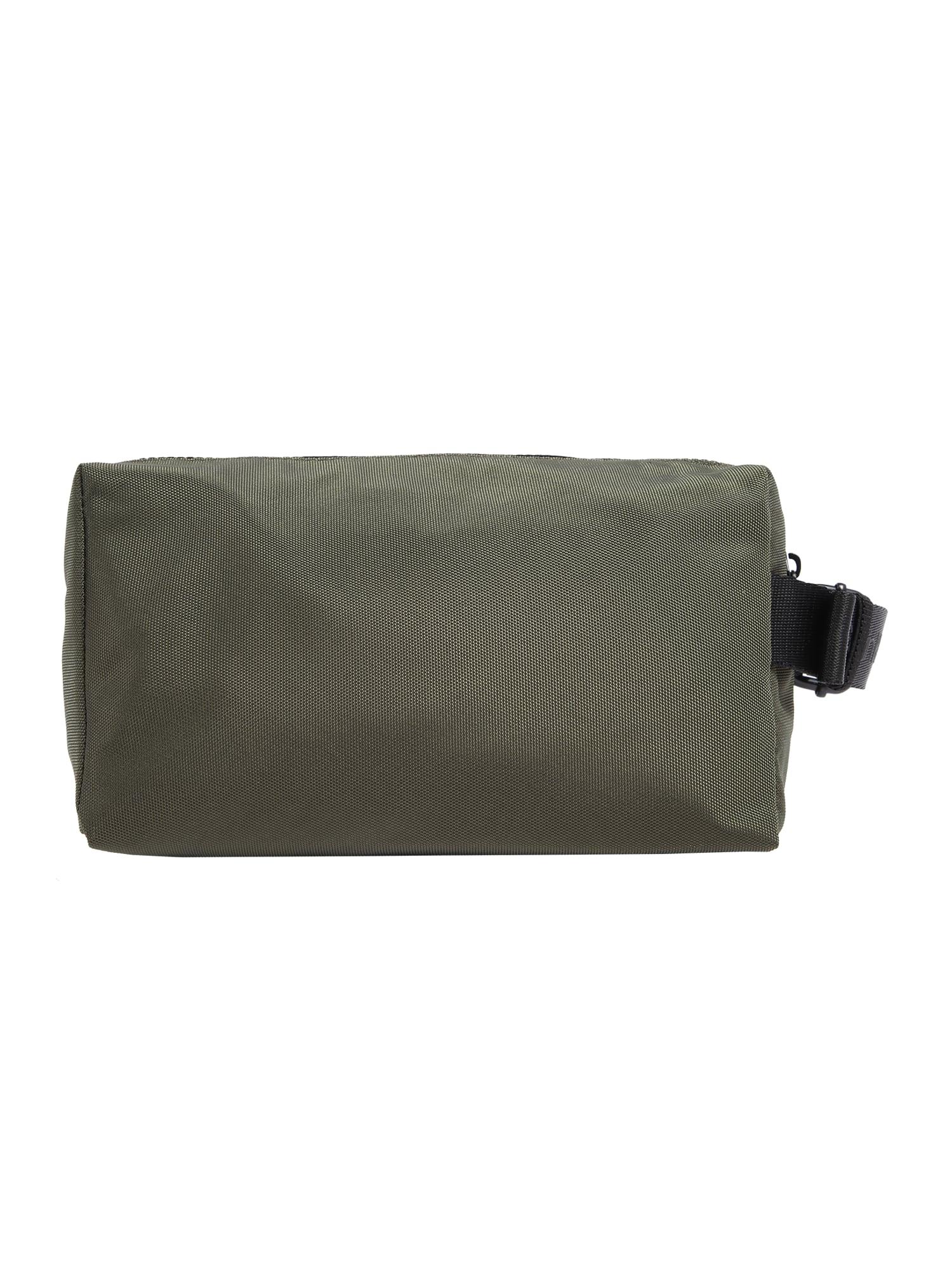 Calvin Klein Tualeto reikmenų / kosmetikos krepšys 'NASTRO LOGO WASHBAG' alyvuogių spalva