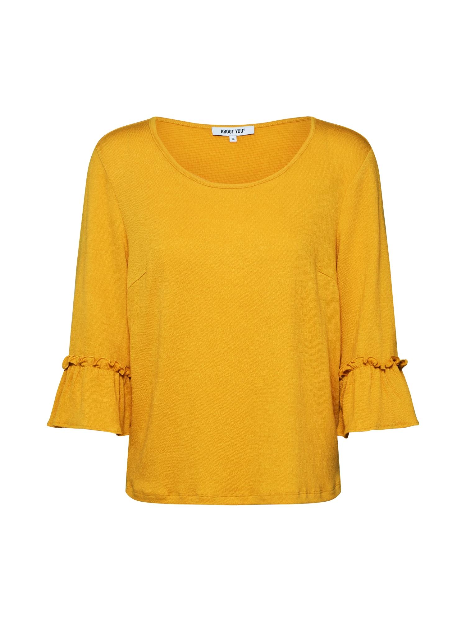 ABOUT YOU Marškinėliai 'Jessa' garstyčių spalva